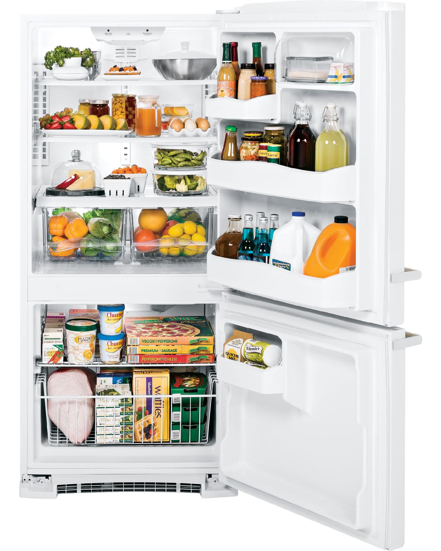 GE Appliances Artistry™ Series 20.3 cu. ft. Bottom-Freezer Refrigerator - White