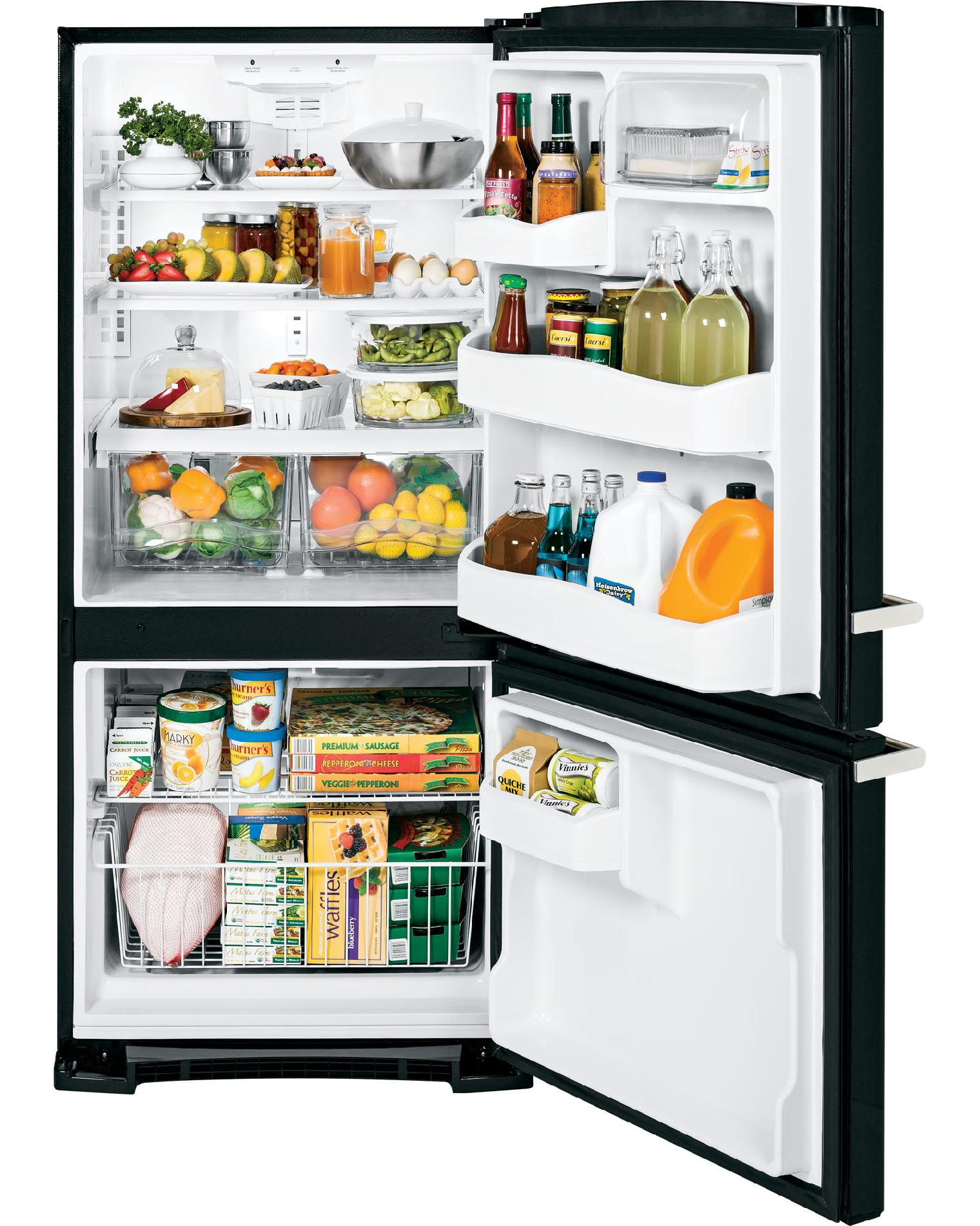 GE Appliances Artistry™ Series 20.3 cu. ft. Bottom-Freezer Refrigerator - Black
