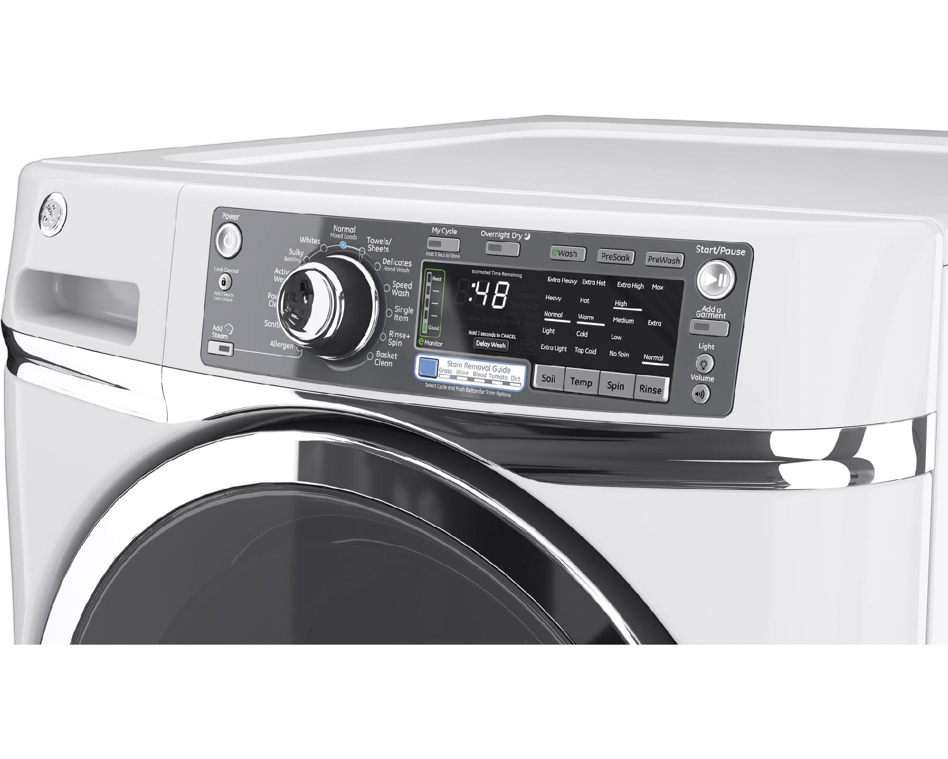 GE 4.8 cu. ft. RightHeight™ Design Front-Load Washer - White