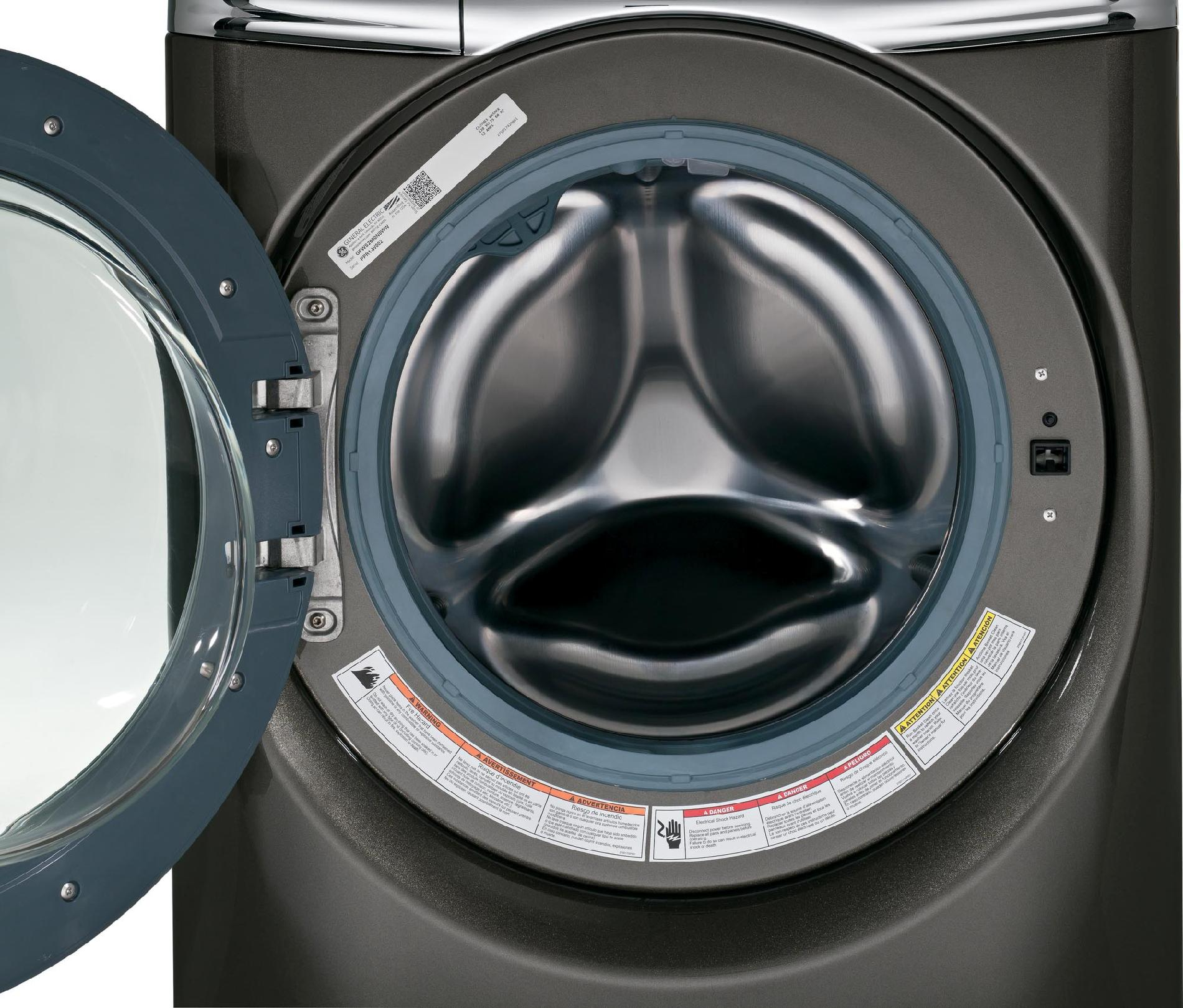 GE Appliances GFWR4805FMC 4.8 cu. ft. RightHeight™ Design Front-Load Washer - Metallic Carbon