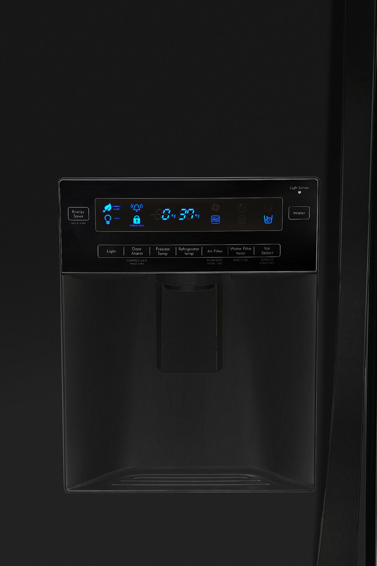 Kenmore Elite 25 cu. ft. French Door Counter-Depth Bottom-Freezer Refrigerator - Black