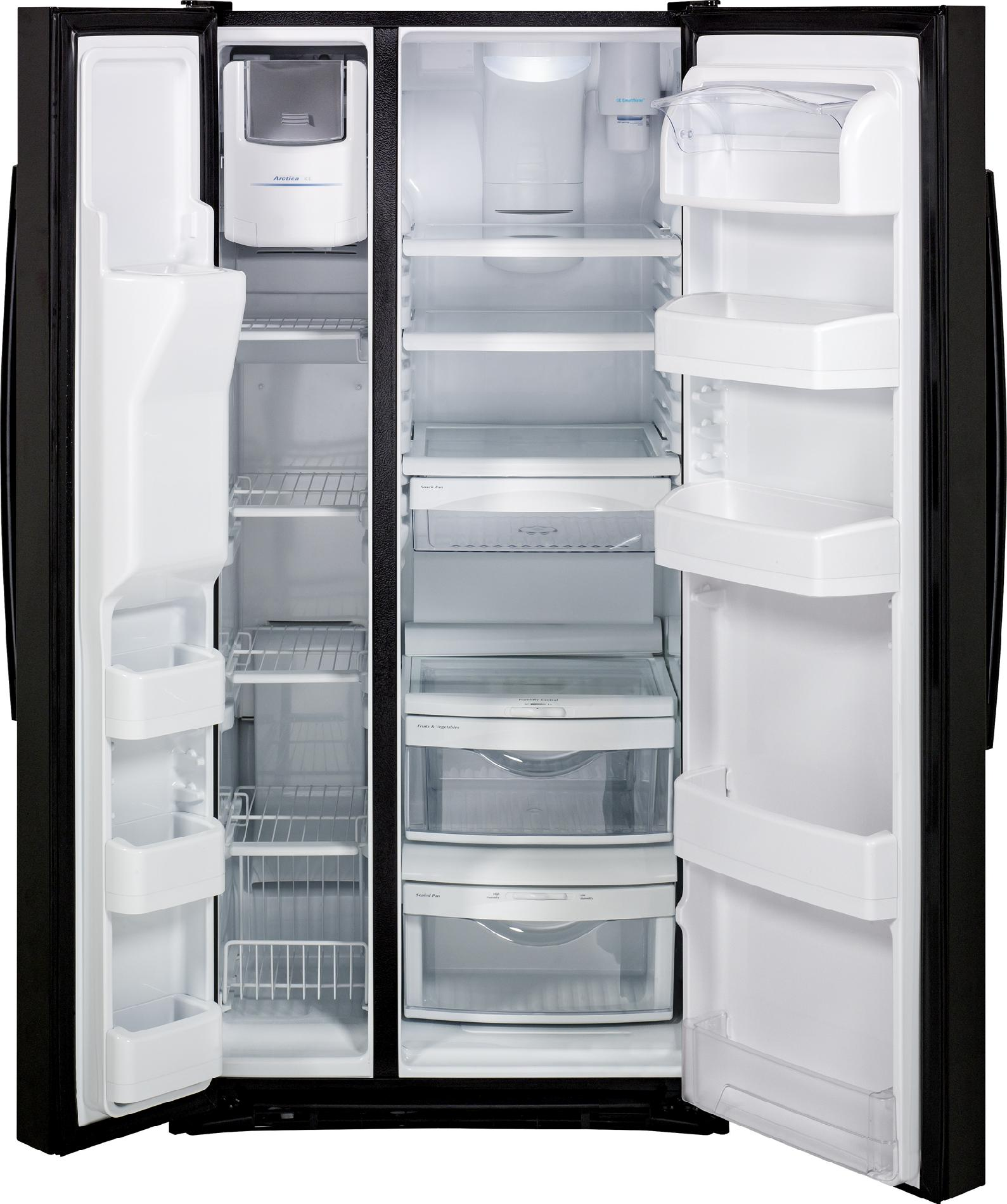 GE Appliances 23.1 cu. ft. Side-By-Side Refrigerator w/ Dispenser - Black