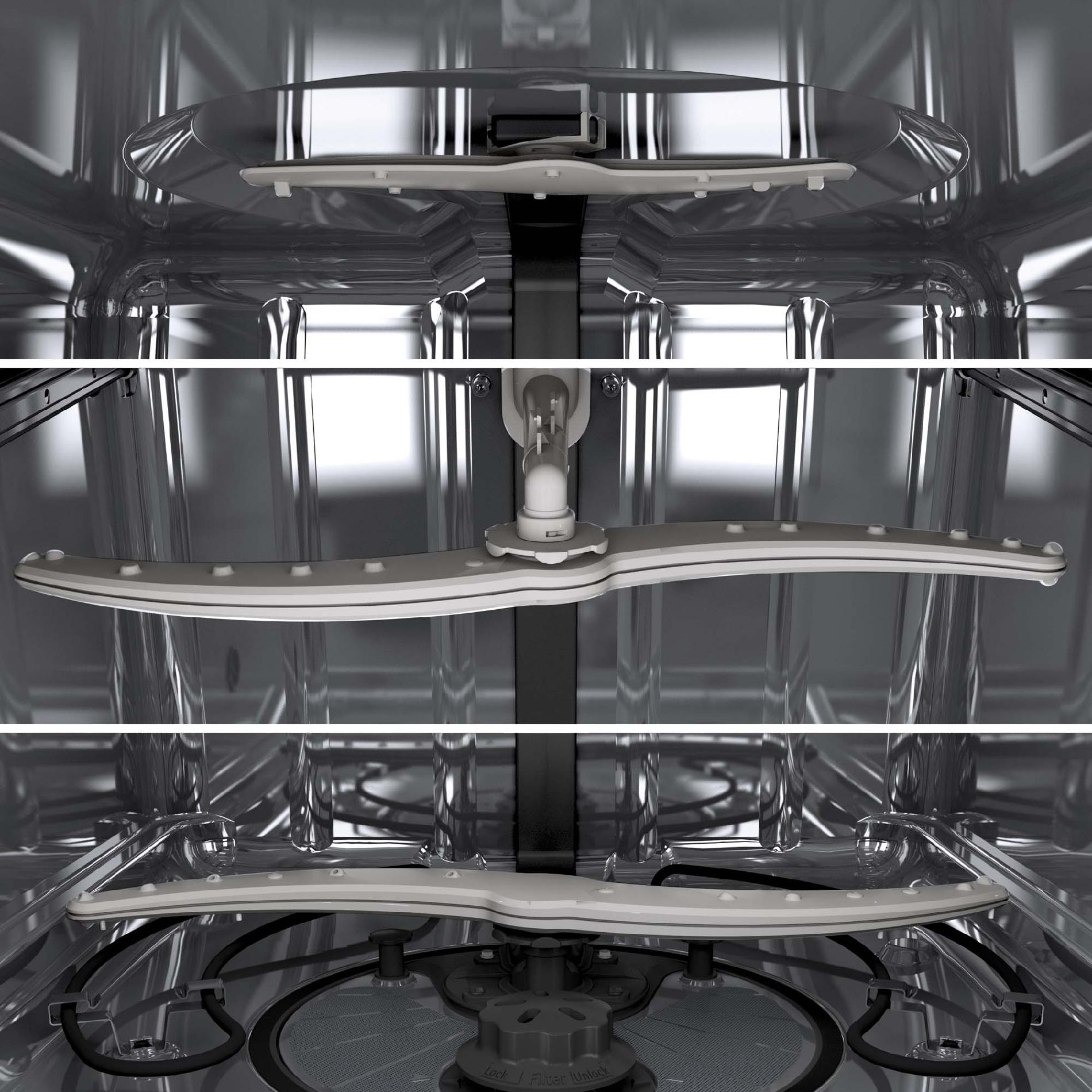 """GE Appliances GDF570SGFCC 24"""" Built-in Dishwasher w/ Stainless Steel Interior & Front Controls-  Bisque"""