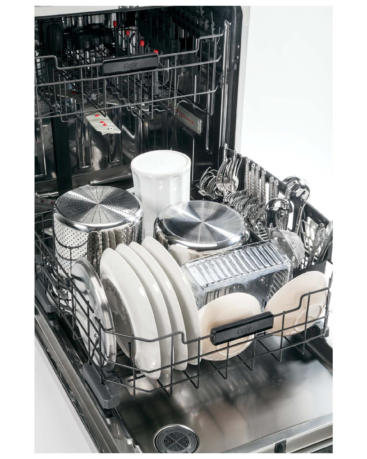 """GE Cafe™ Series 24"""" Built-in Dishwasher w/ Stainless Steel Interior - Stainless Steel"""