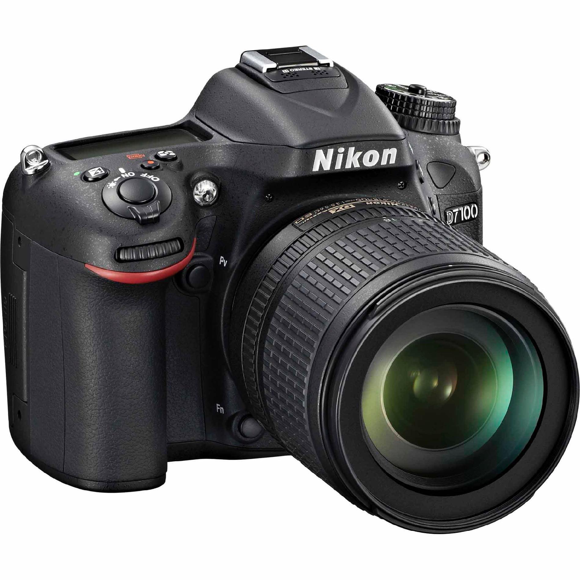 Nikon 24.1MP D7100 SLR Digital Camera w/ 18-105mm VR Lens (Black)