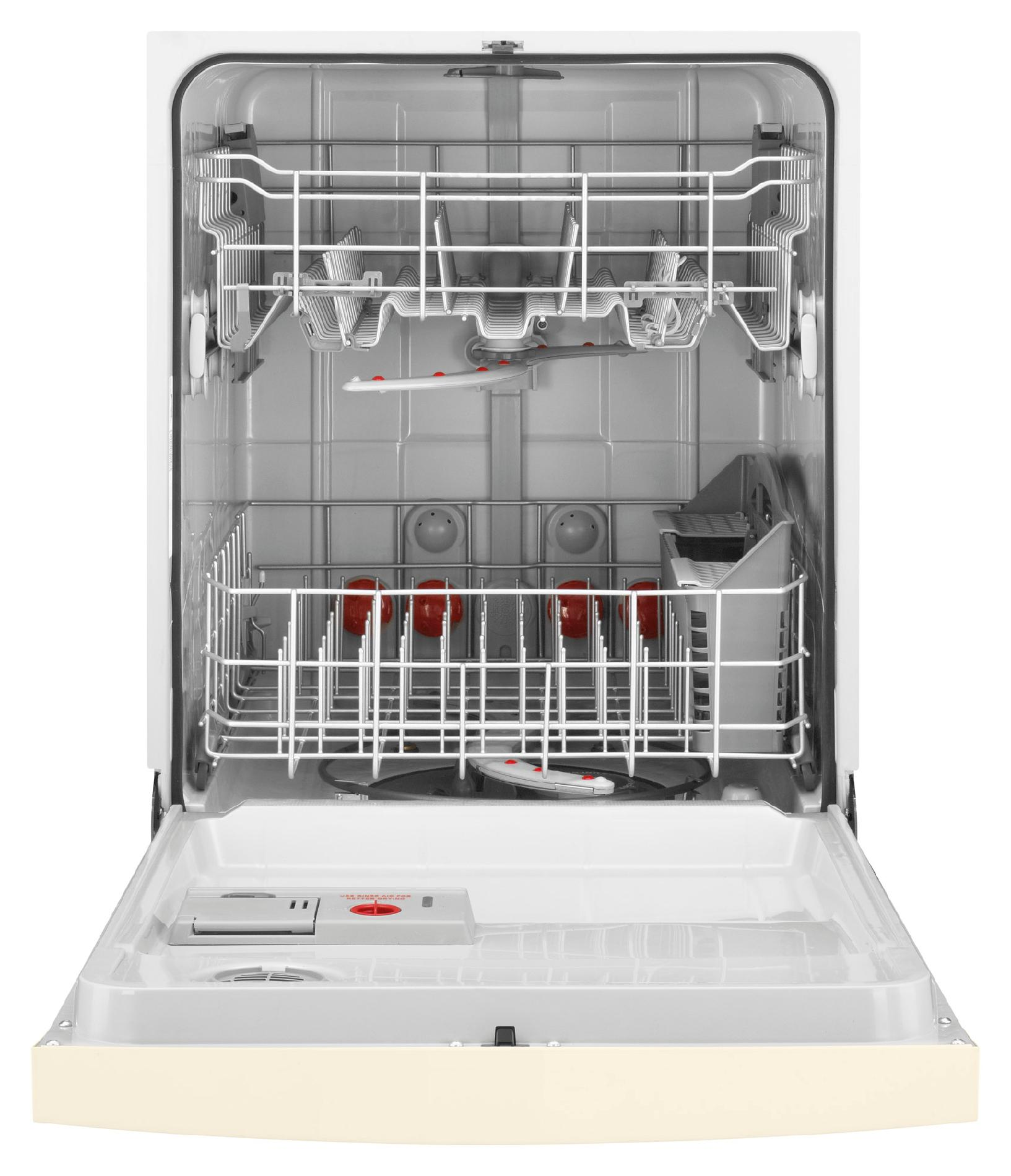 "Kenmore 24"" Built-In Dishwasher w/ TurboZone™, Rotating Spray Jets - Bisque"