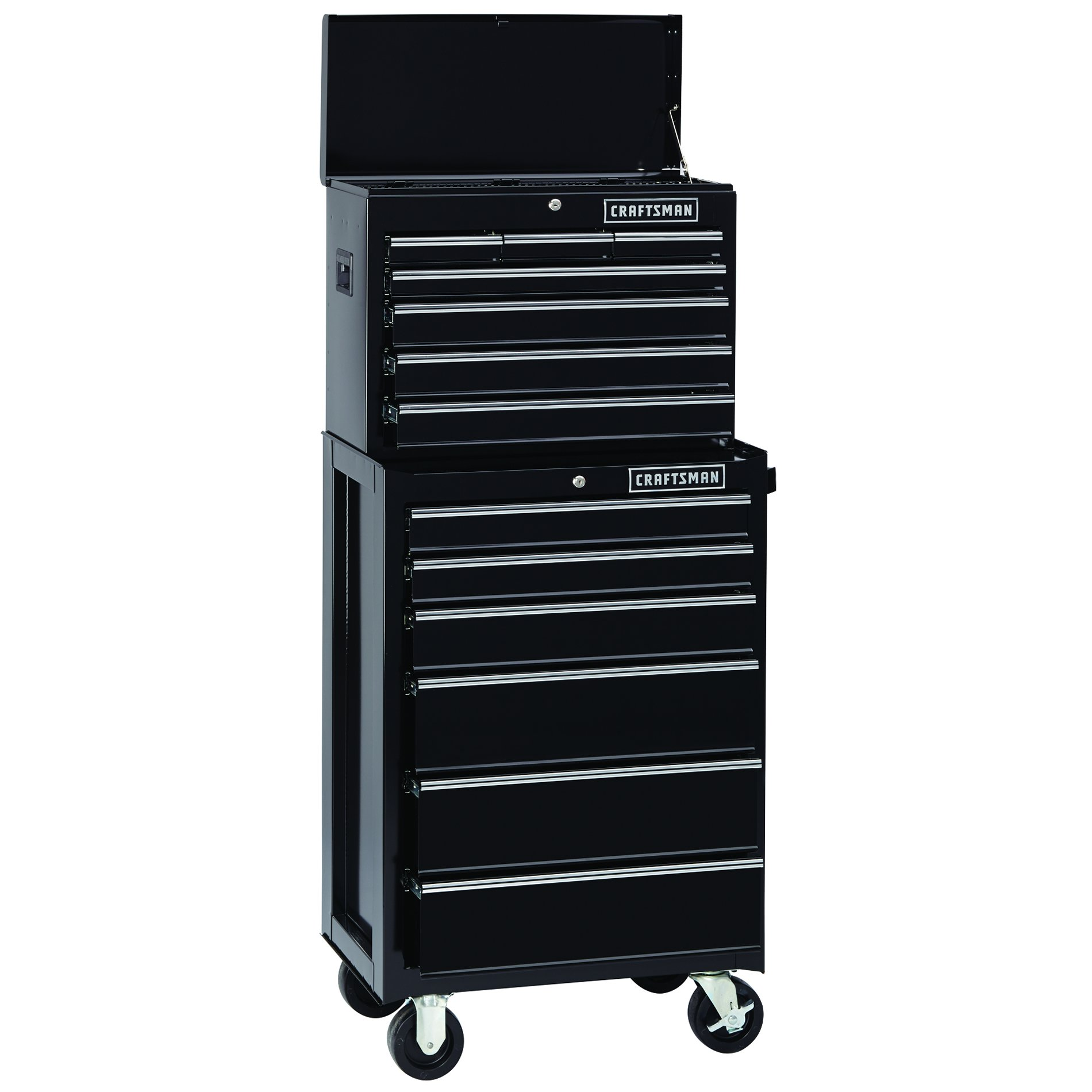 6-Drawer Heavy-Duty Ball-Bearing Rolling Cabinet - Black