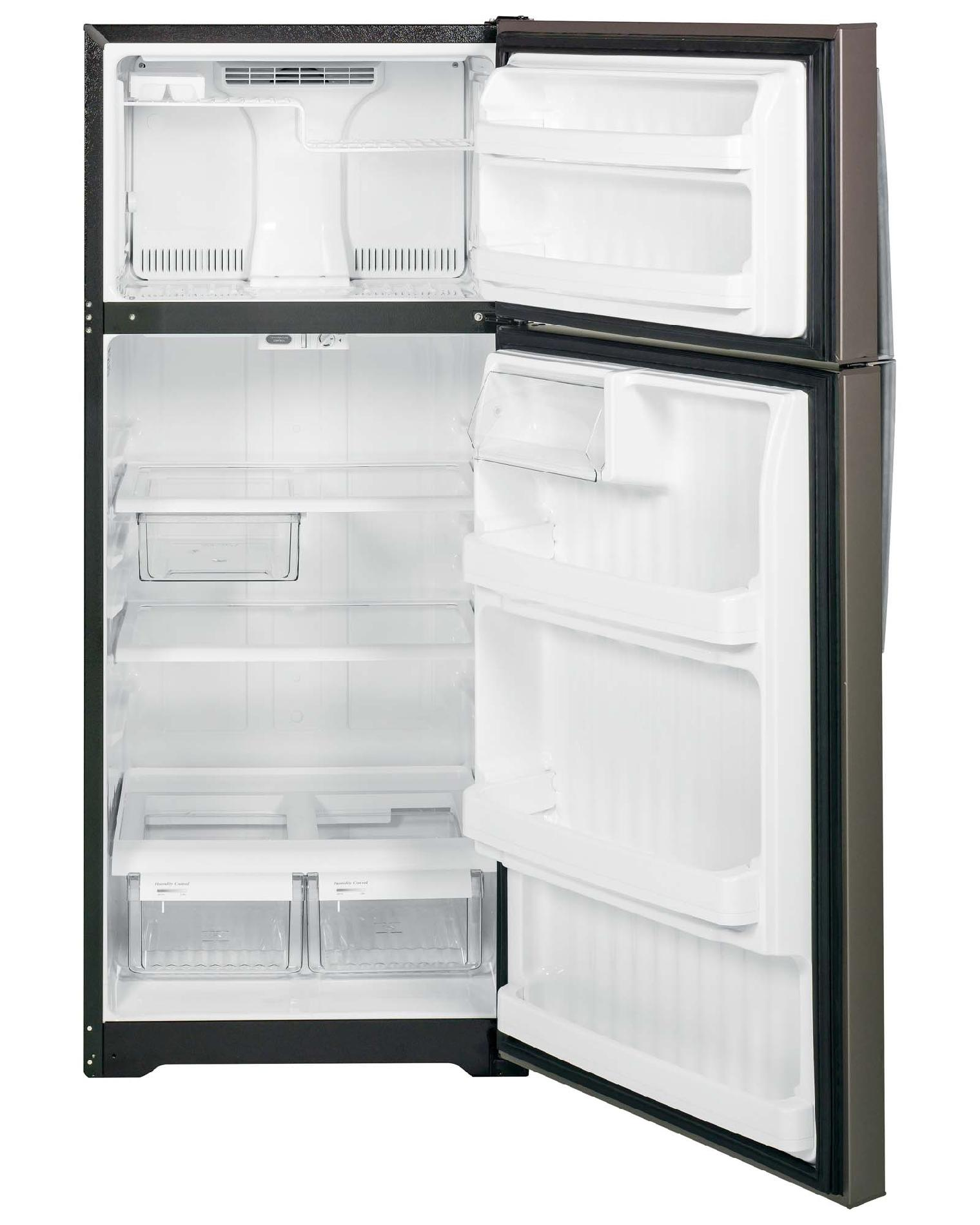 GE Appliances 18.1 cu. ft. Top-Freezer Refrigerator - Slate