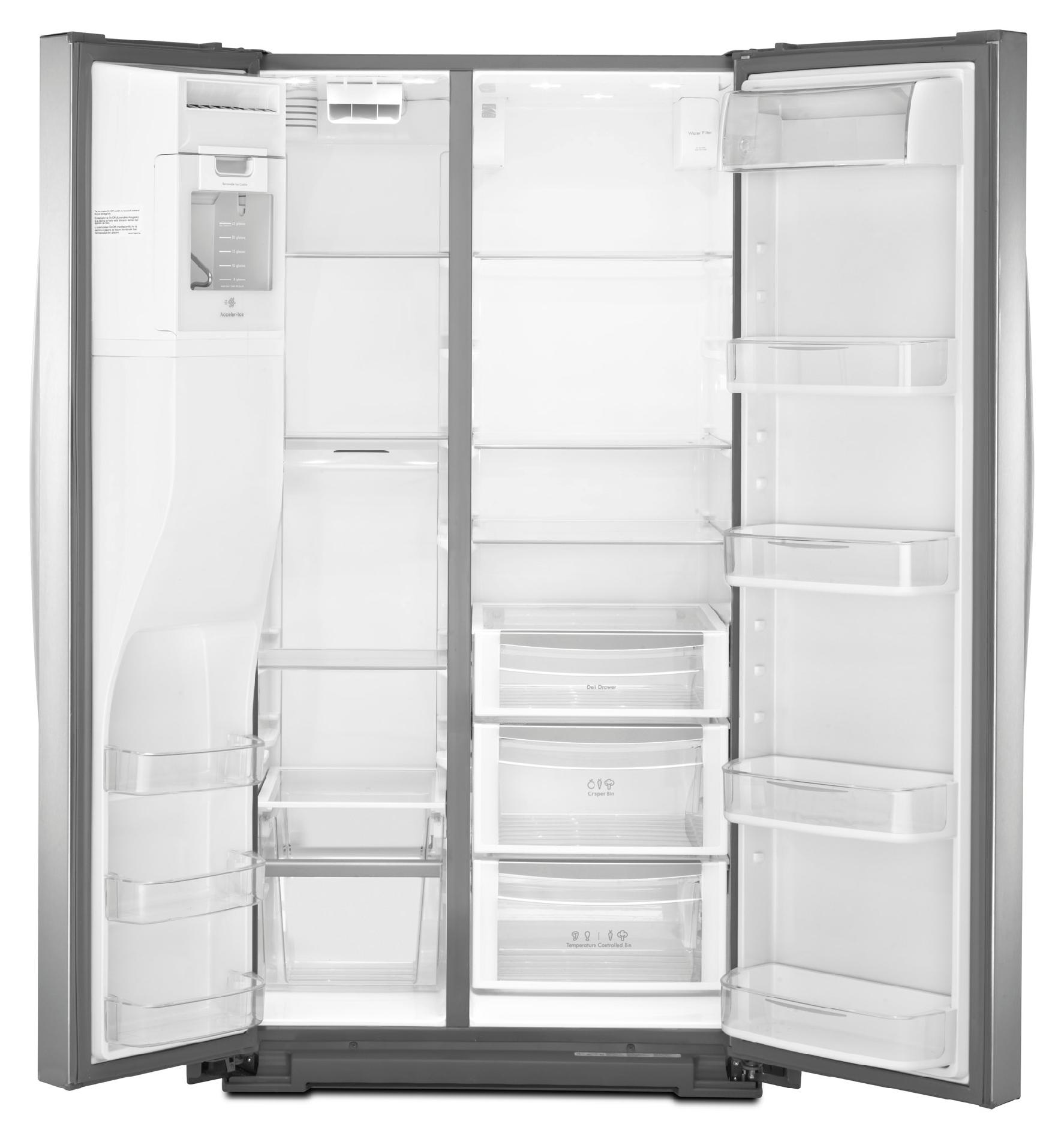 Kenmore Elite 24.5 cu. ft. Counter-Depth Side-by-Side Refrigerator - Stainless Steel