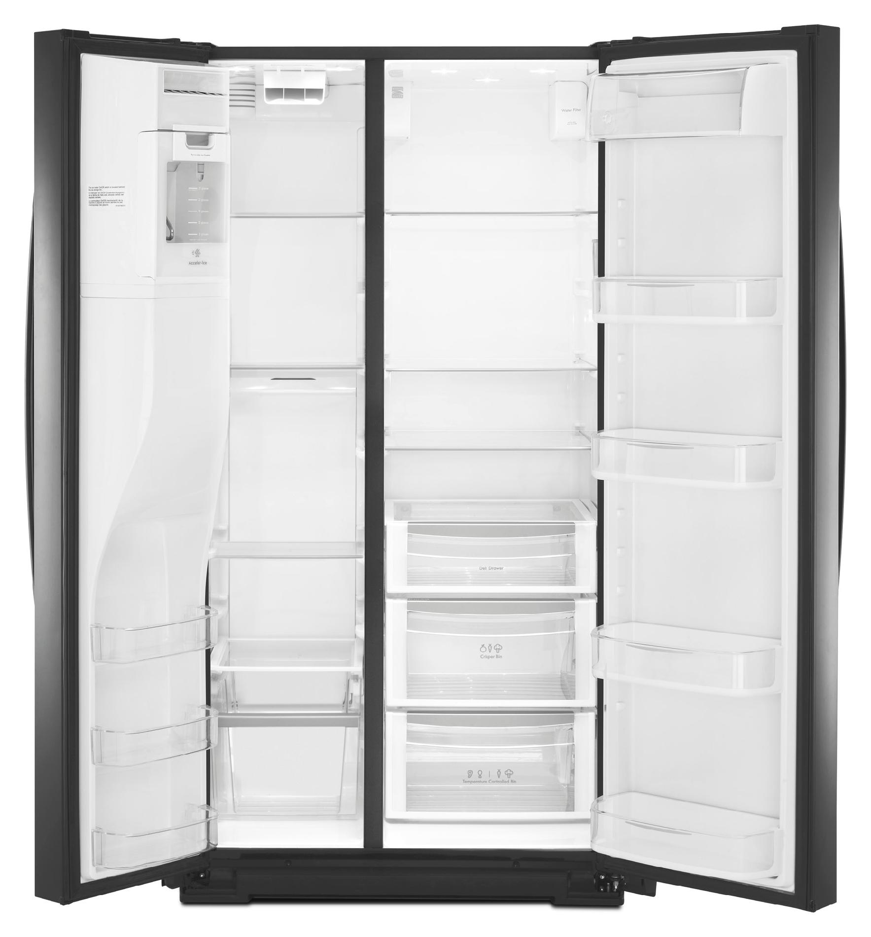 Kenmore Elite 24.5 cu. ft. Counter-Depth Side-by-Side Refrigerator - Black