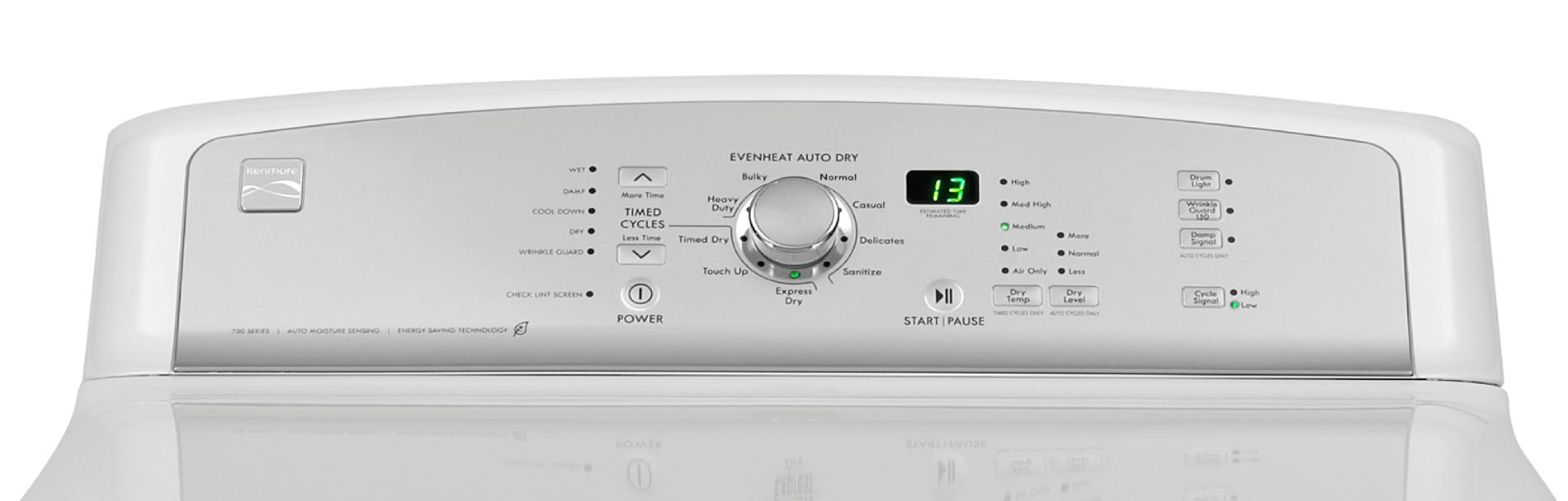 Kenmore 7.6 cu. ft. Electric Dryer w/ Sanitize Cycle - White