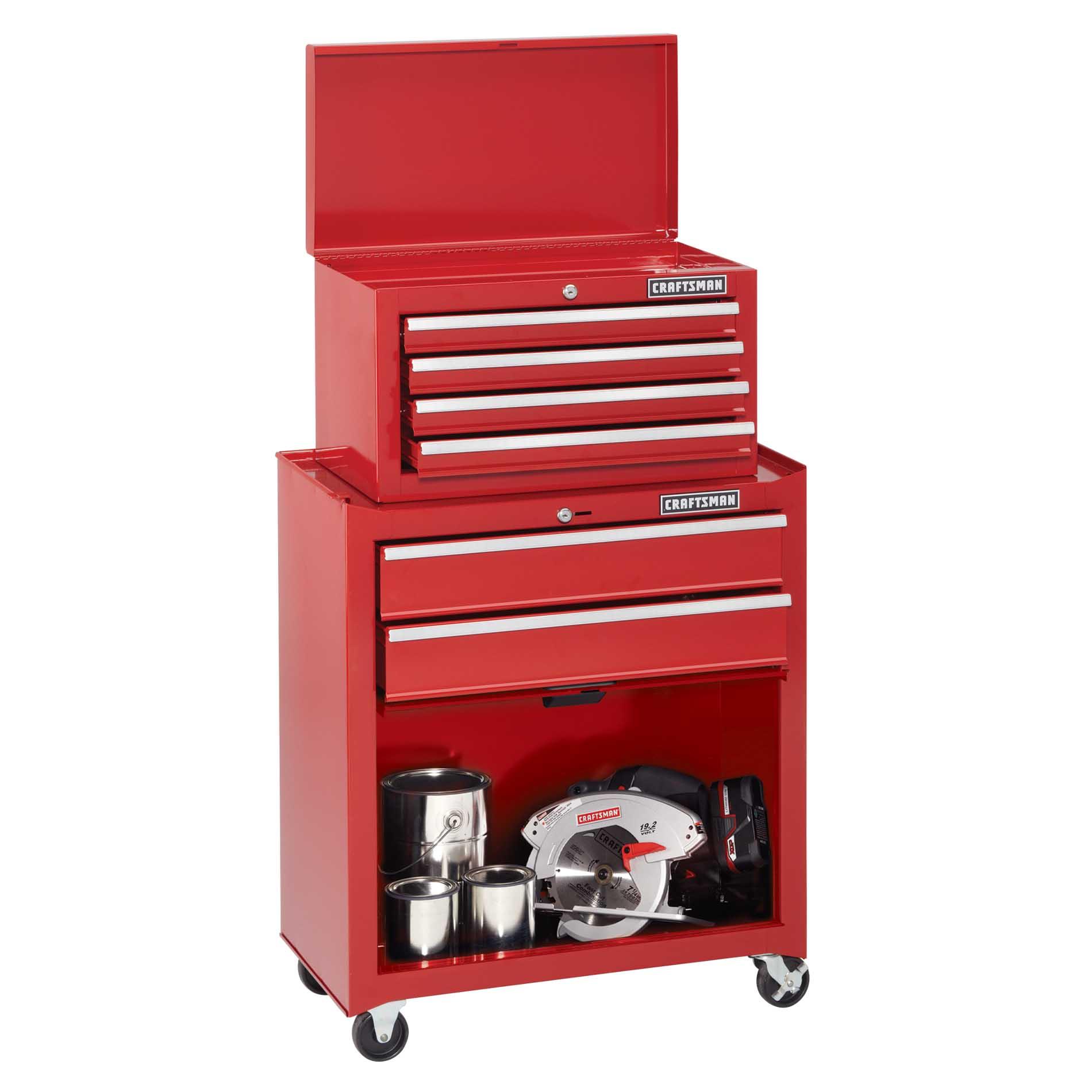 Craftsman Home Series 6-Drawer Tool Center with Bulk Storage Panel Door