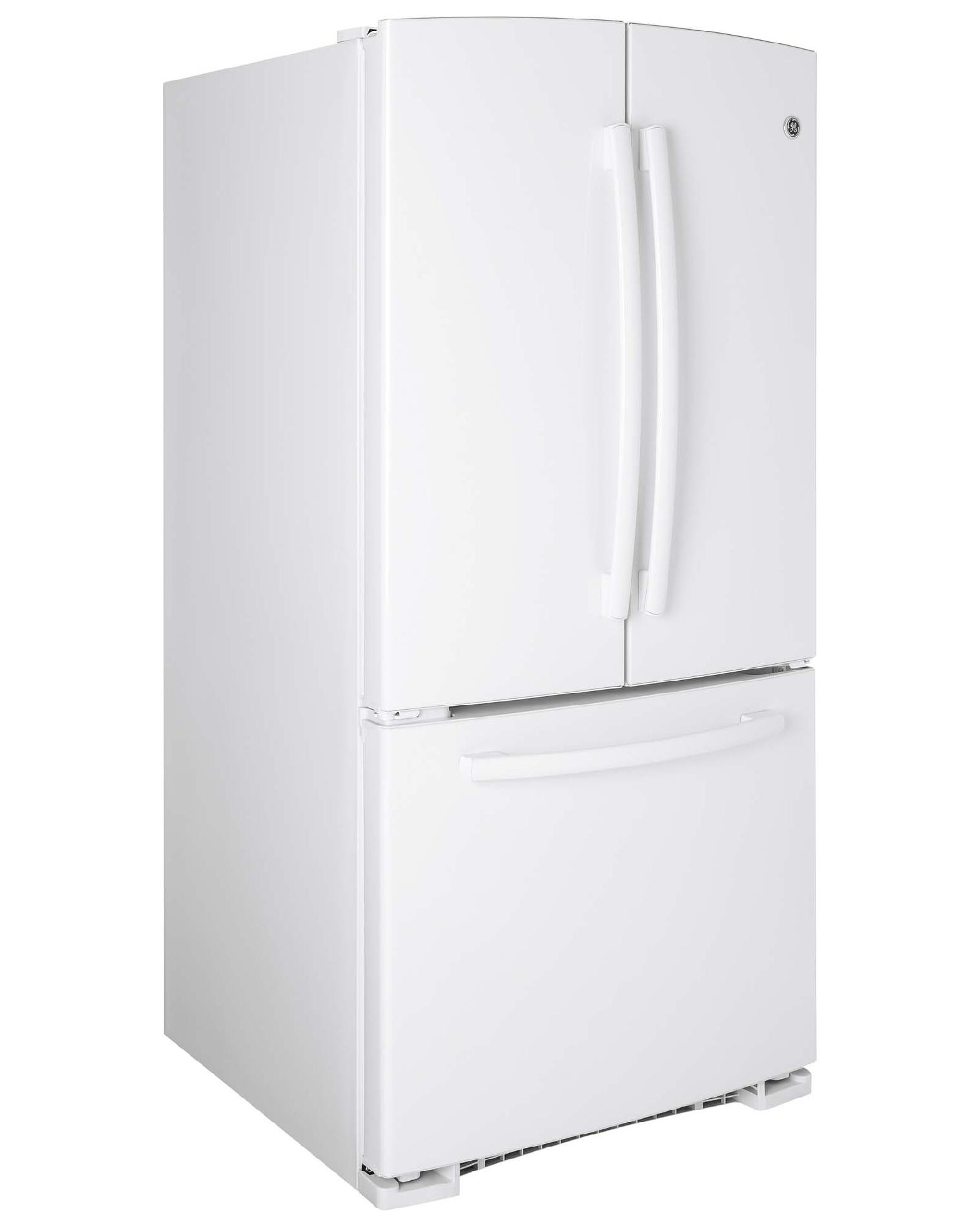 GE Appliances 22.1 cu. ft. French Door Bottom-Freezer Refrigerator - White