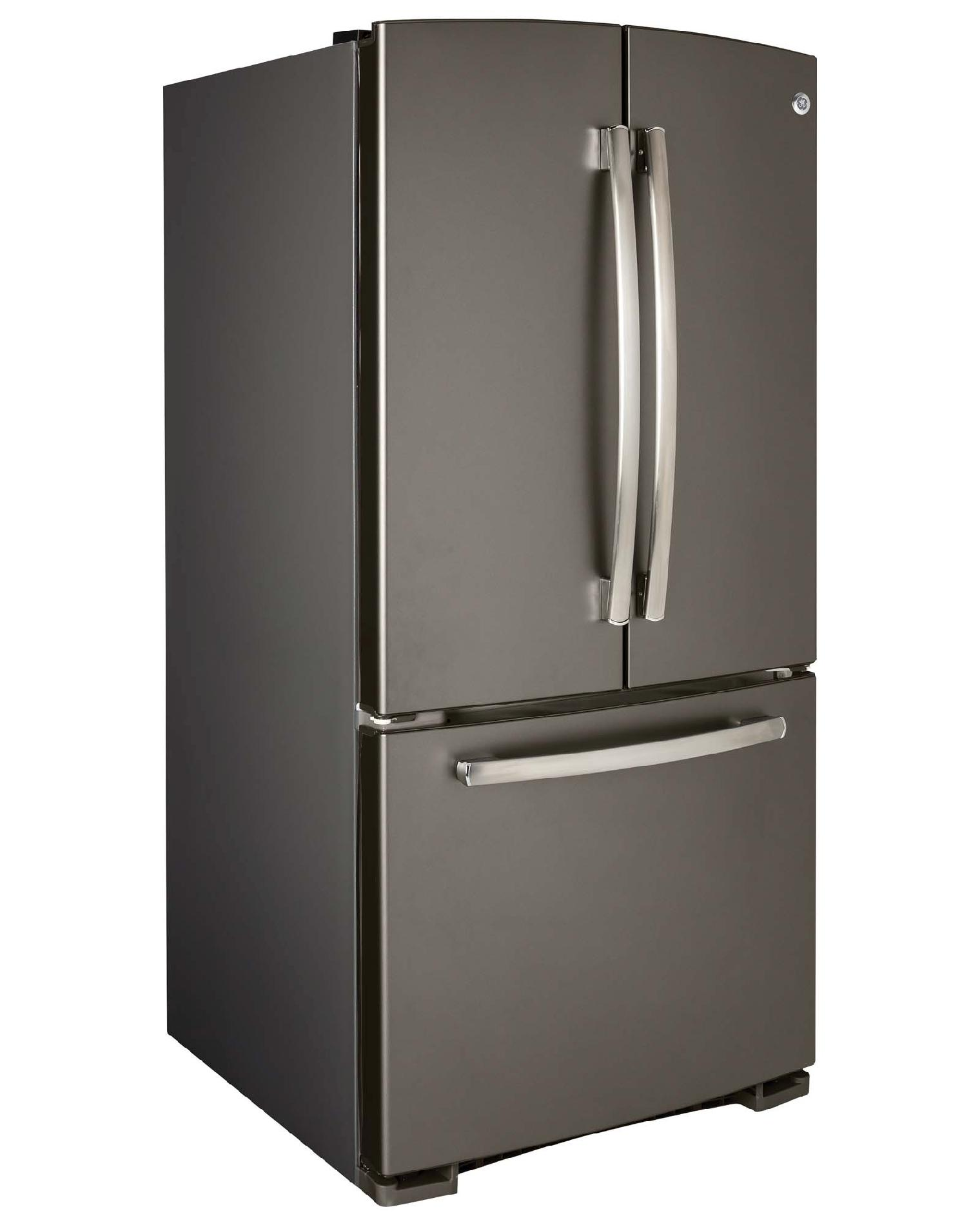 GE 22.1 cu. ft. French Door Bottom-Freezer Refrigerator - Slate