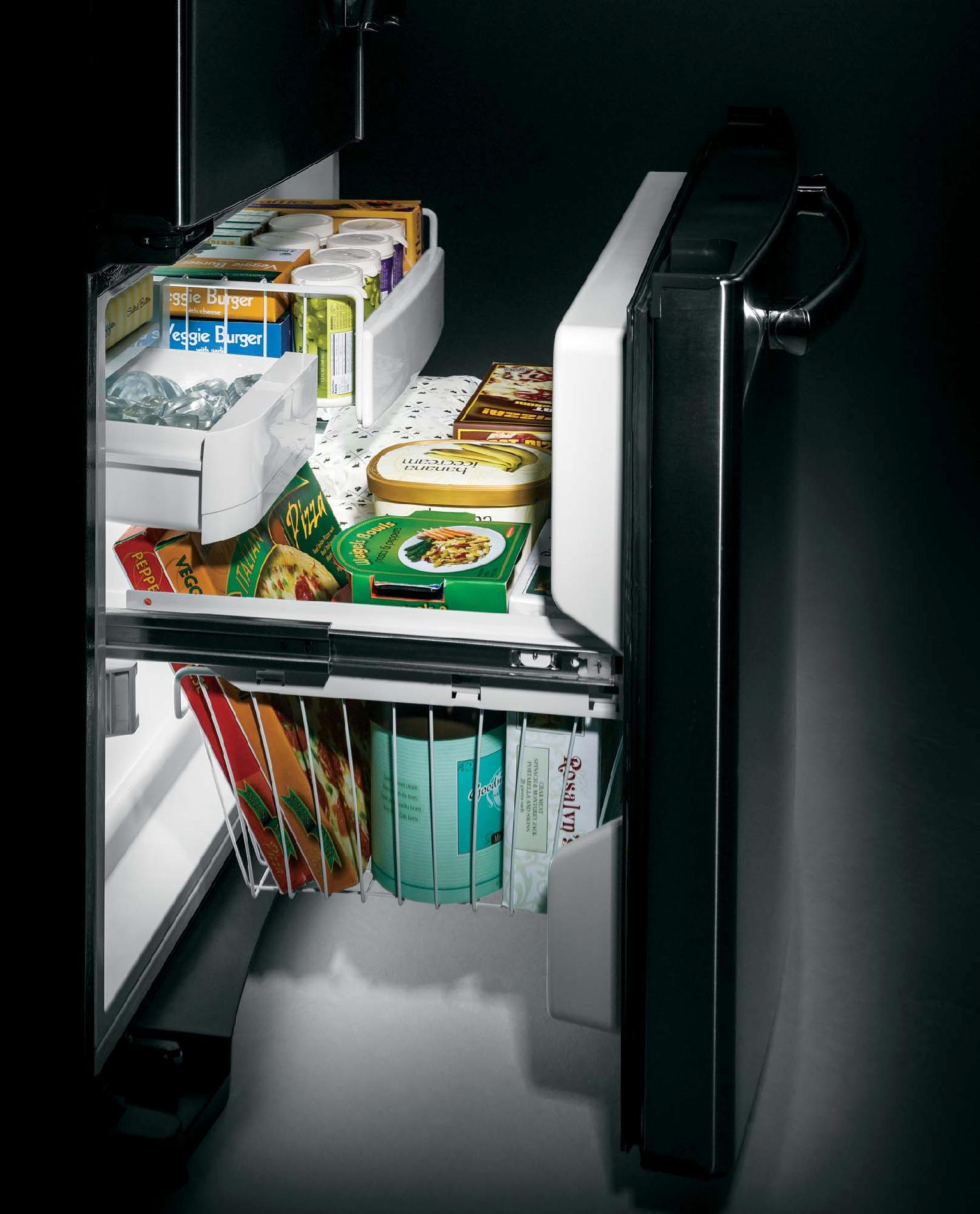 GE Appliances 22.1 cu. ft. French Door Bottom-Freezer Refrigerator - Stainless Steel