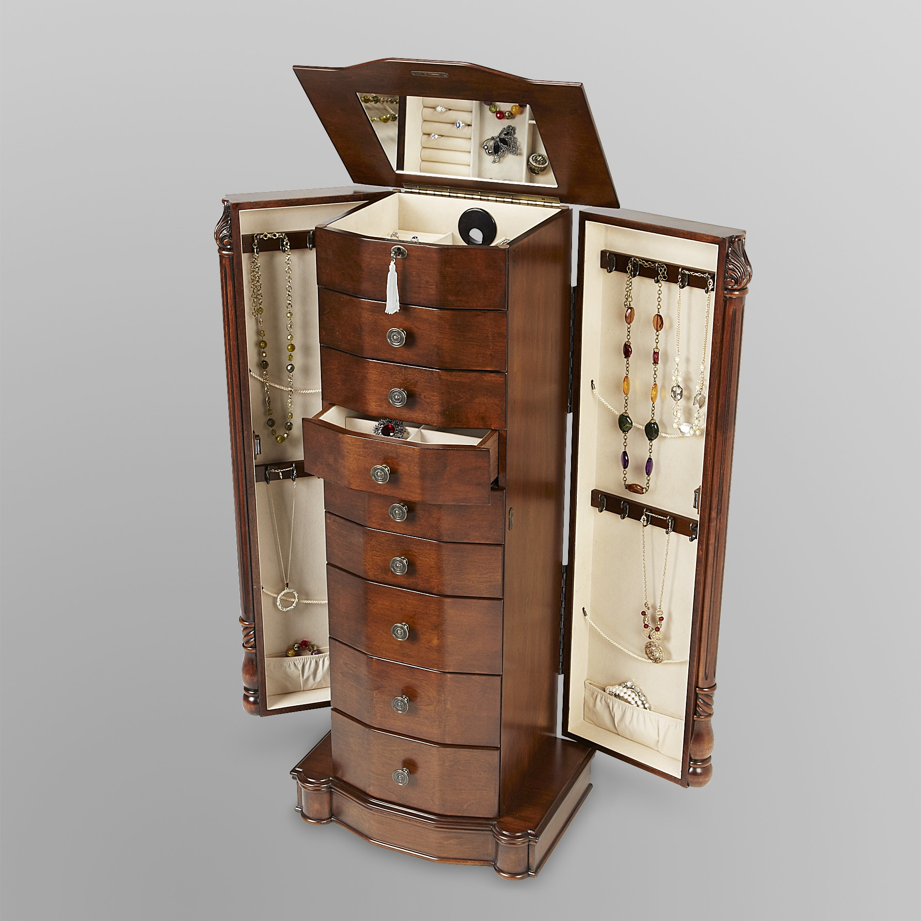 Hives & Honey Louis XVI Walnut Jewelry Armoire