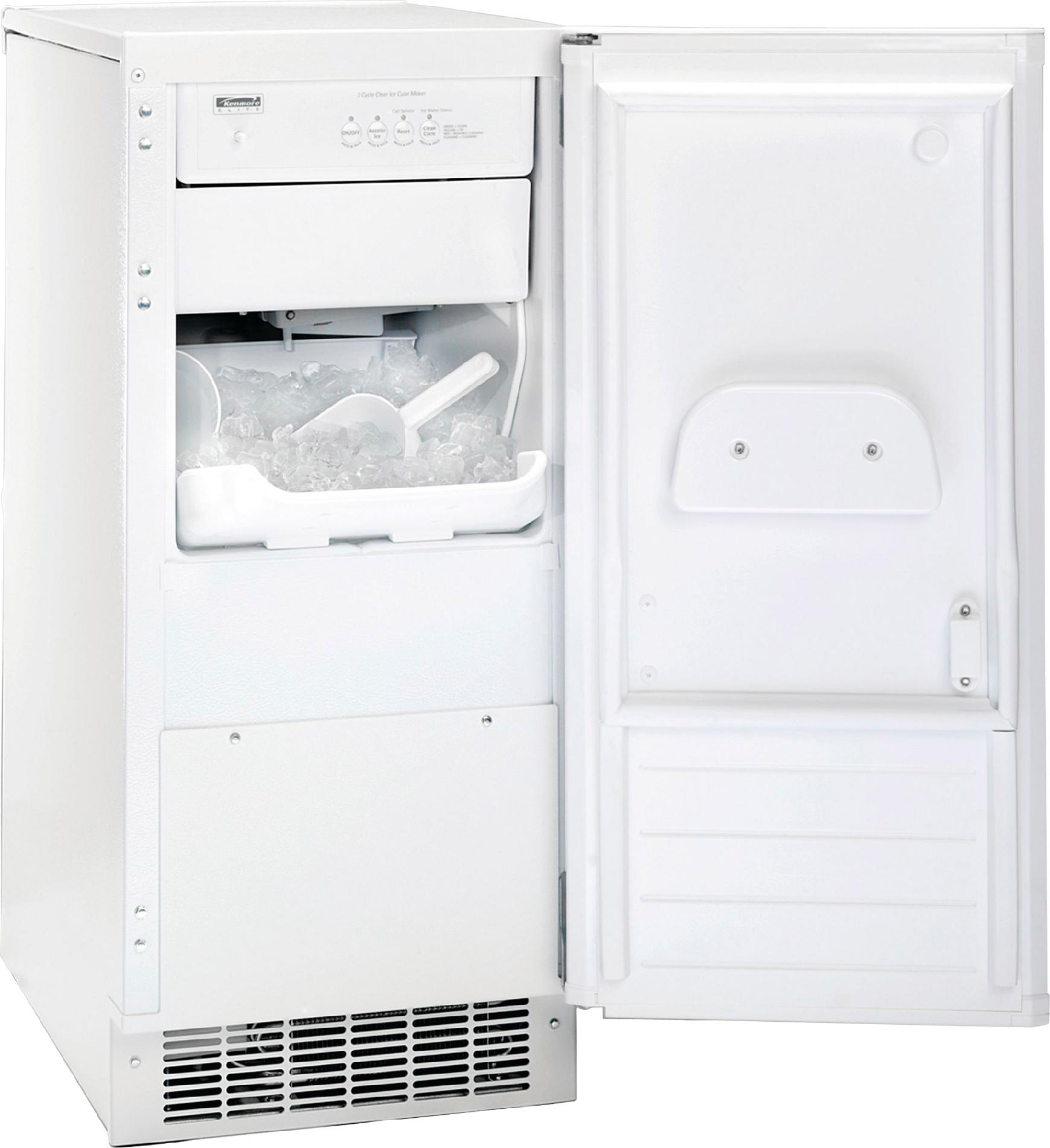Kenmore Built-In 51 lb. Capacity Ice Maker Freezer - White