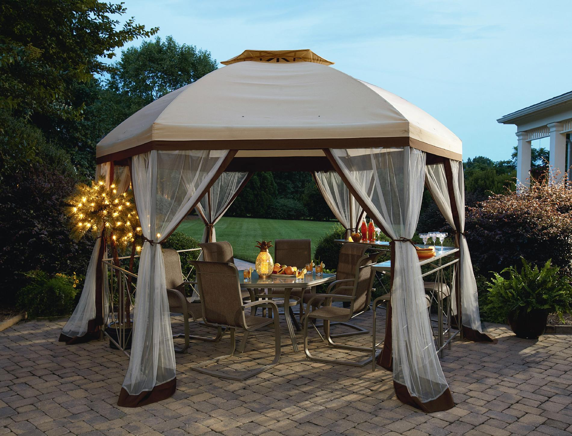 Garden Oasis Long Beach 13' Hex Gazebo with Net