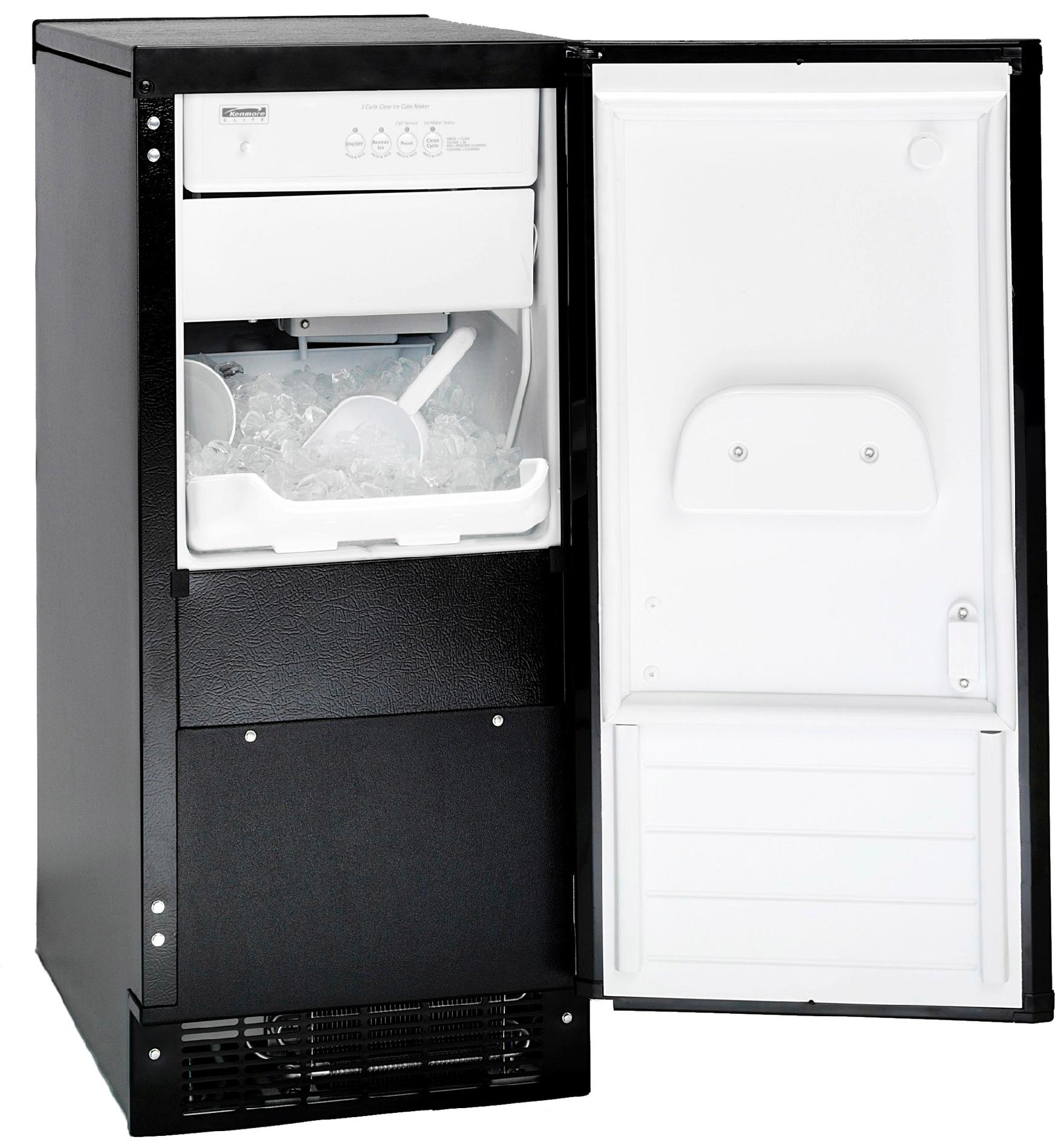 Kenmore Built-In 51 lb. Capacity Ice Maker Freezer - Black