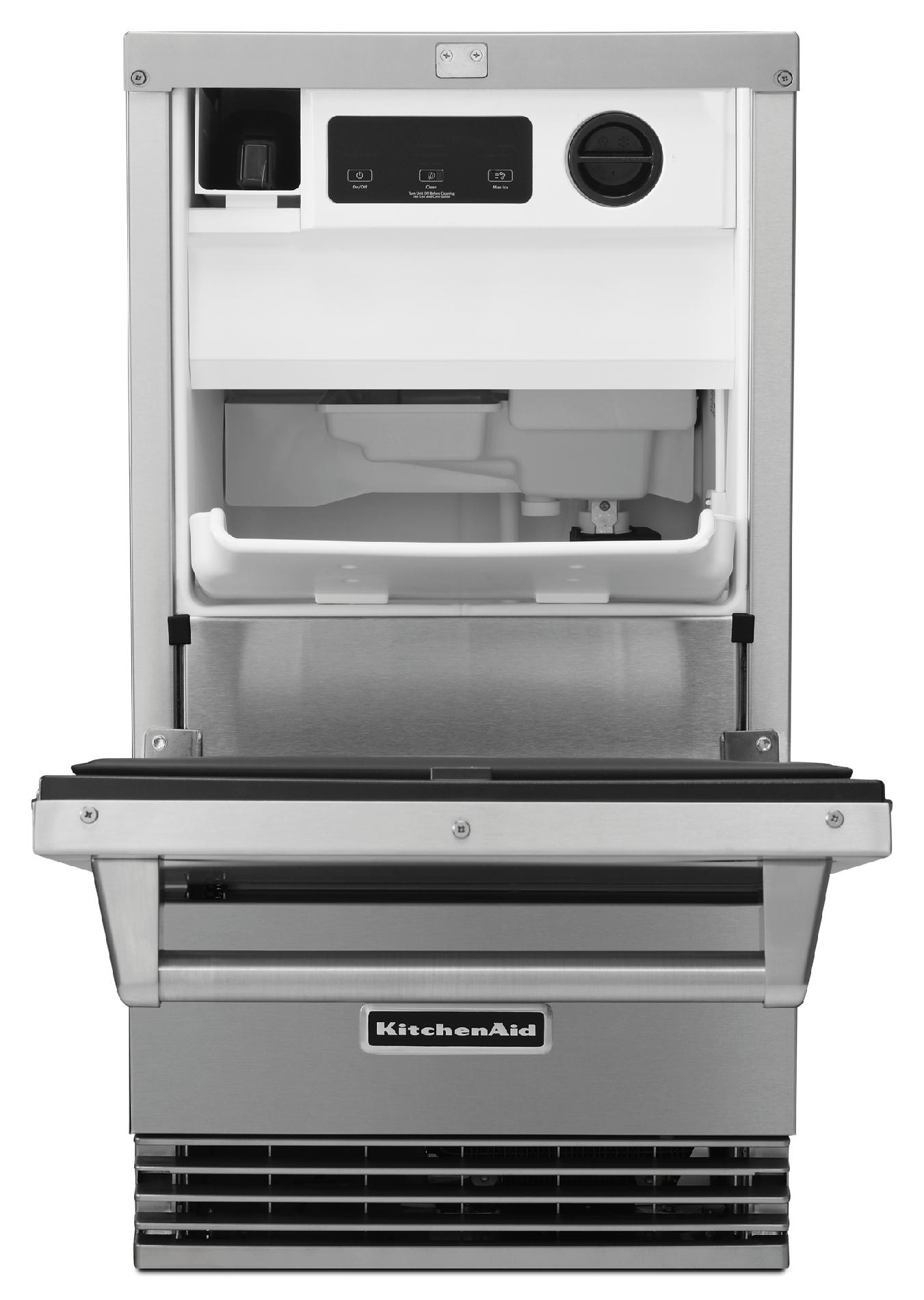 "KitchenAid KUIO18NNZS 18"" Outdoor Ice Maker - Stainless Steel"