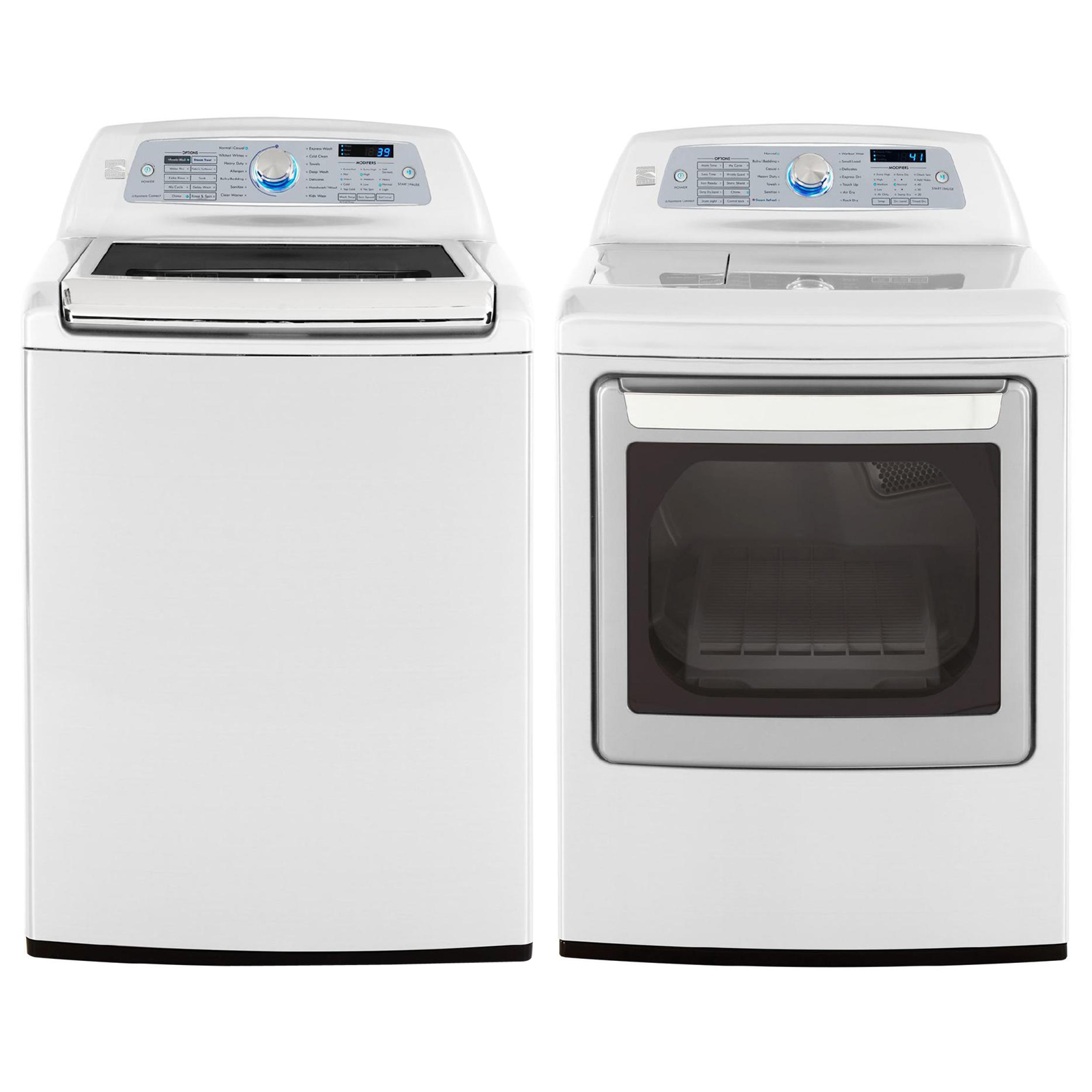 Kenmore elite 7 3 cu ft electric dryer w steam white 61622 Sears washer and dryer