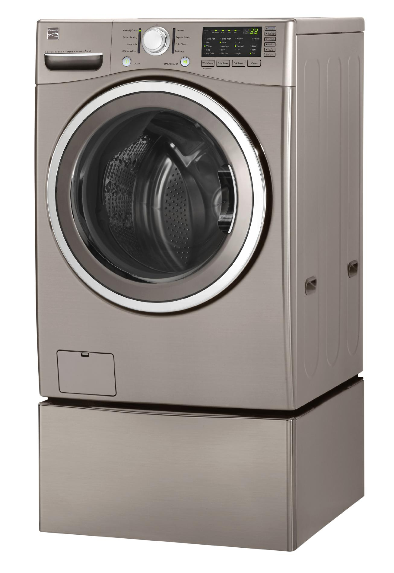 Kenmore 4.0 cu. ft. Front-Load Washer w/ Steam - Metallic Silver