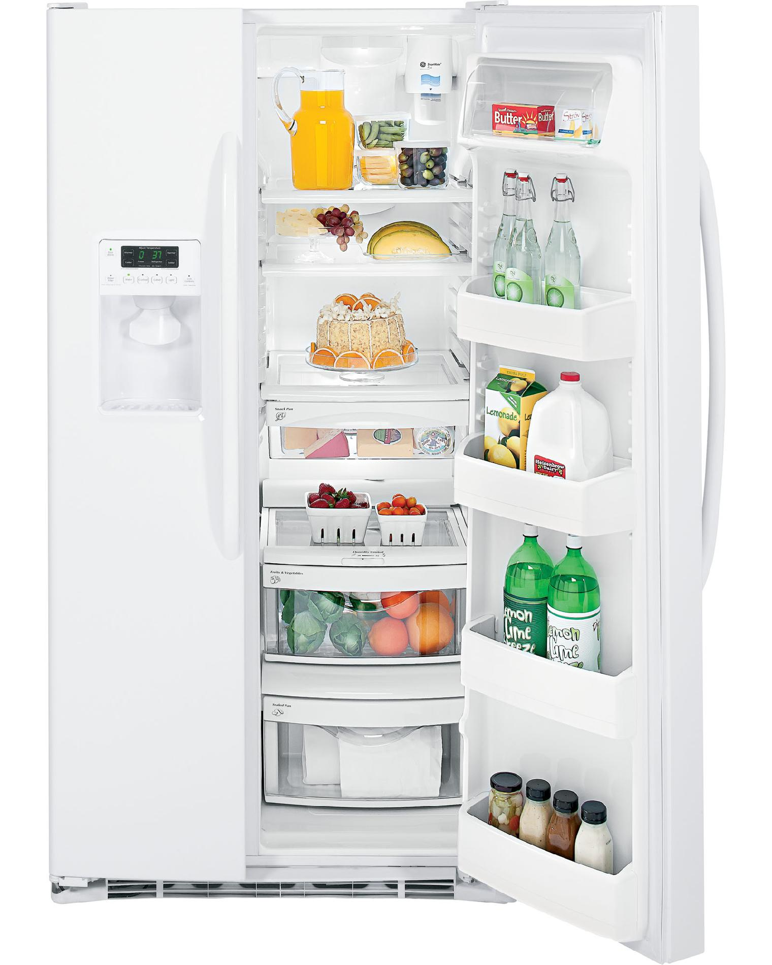 GE 25.9 cu. ft. Side-by-Side Refrigerator w/ Dispenser - White