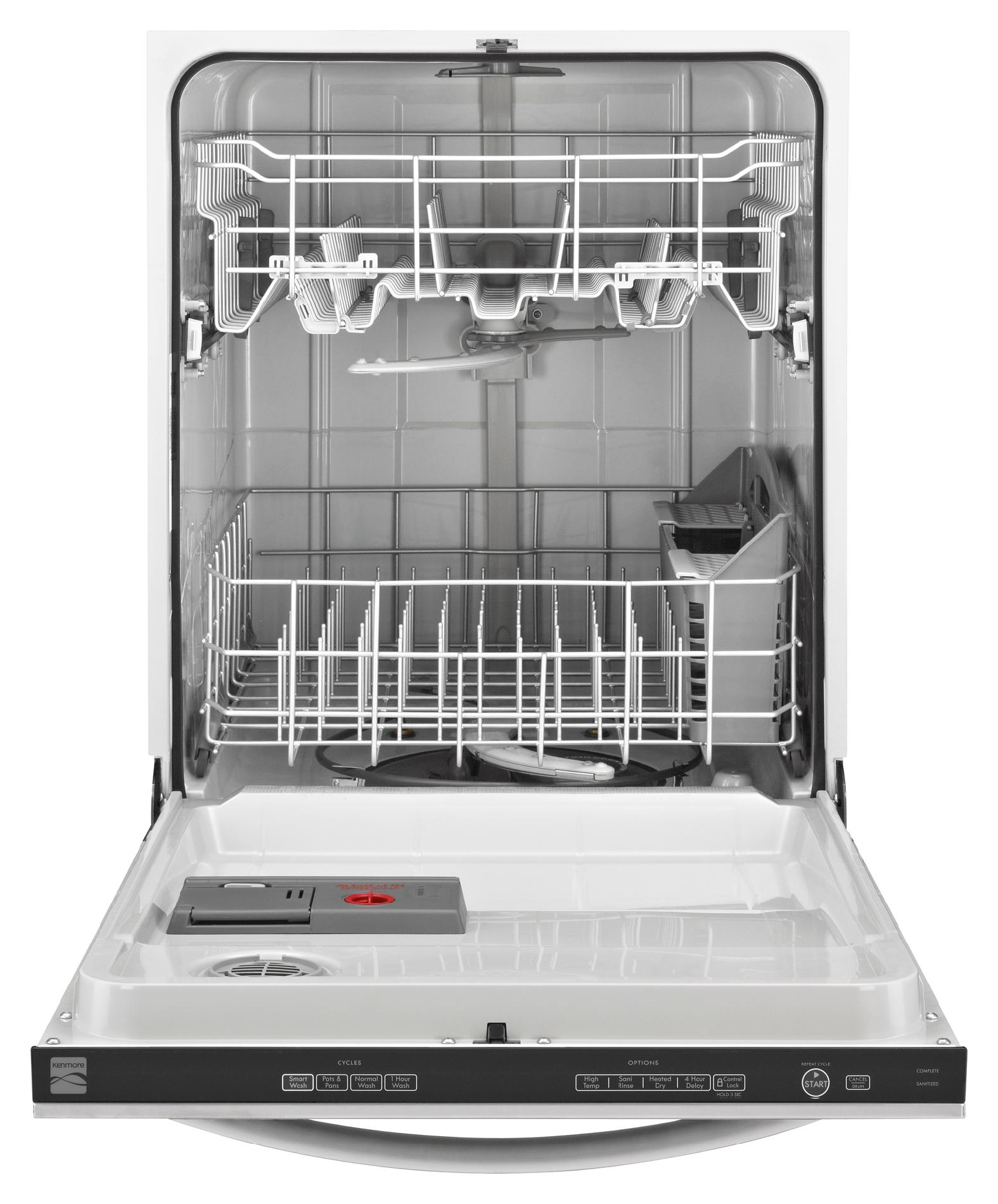 "Kenmore 24""  Built-In Dishwasher w/ SmartWash® Cycle - Stainless Steel"