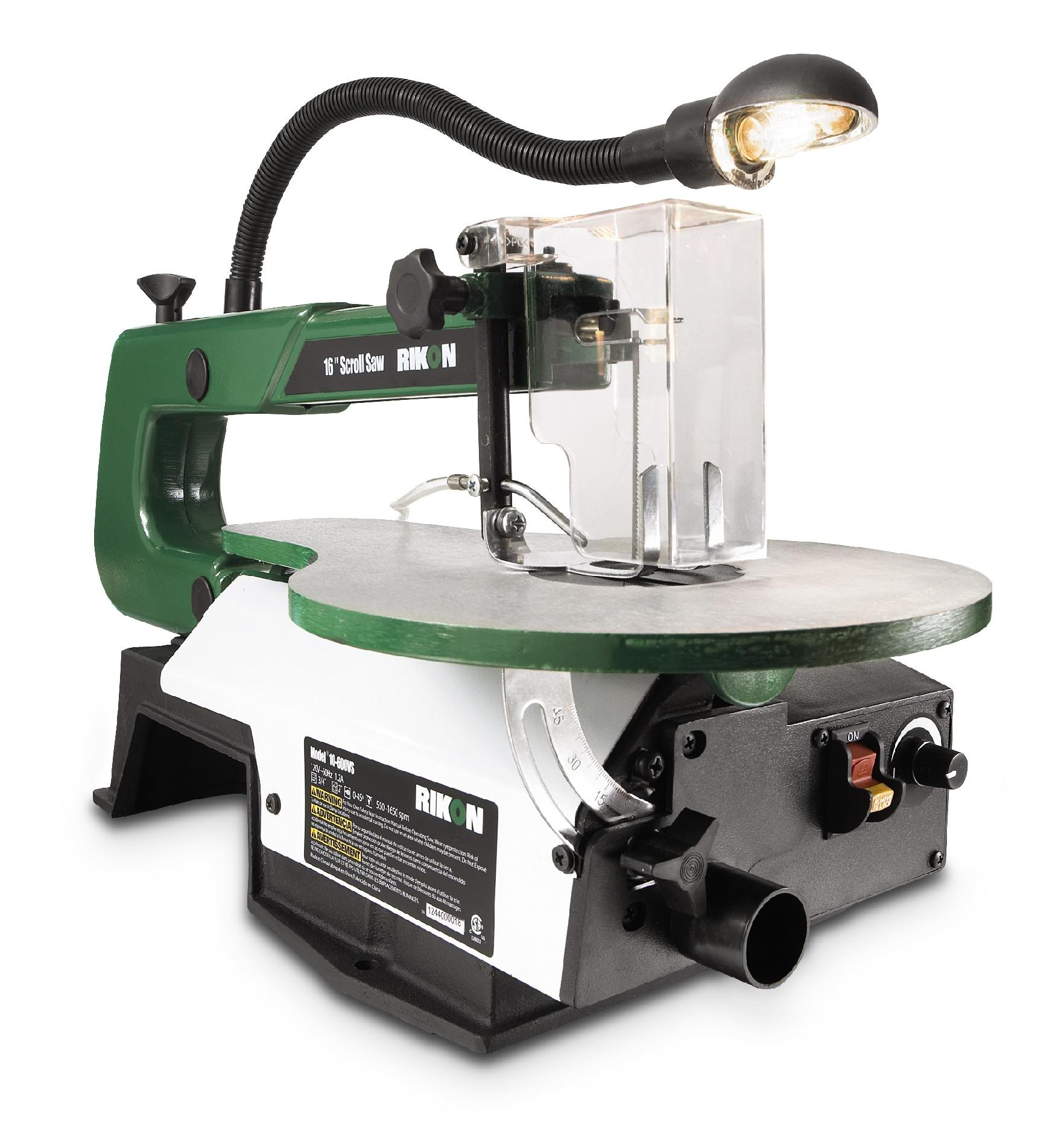 Rikon 16-Inch Scroll Saw with Lamp