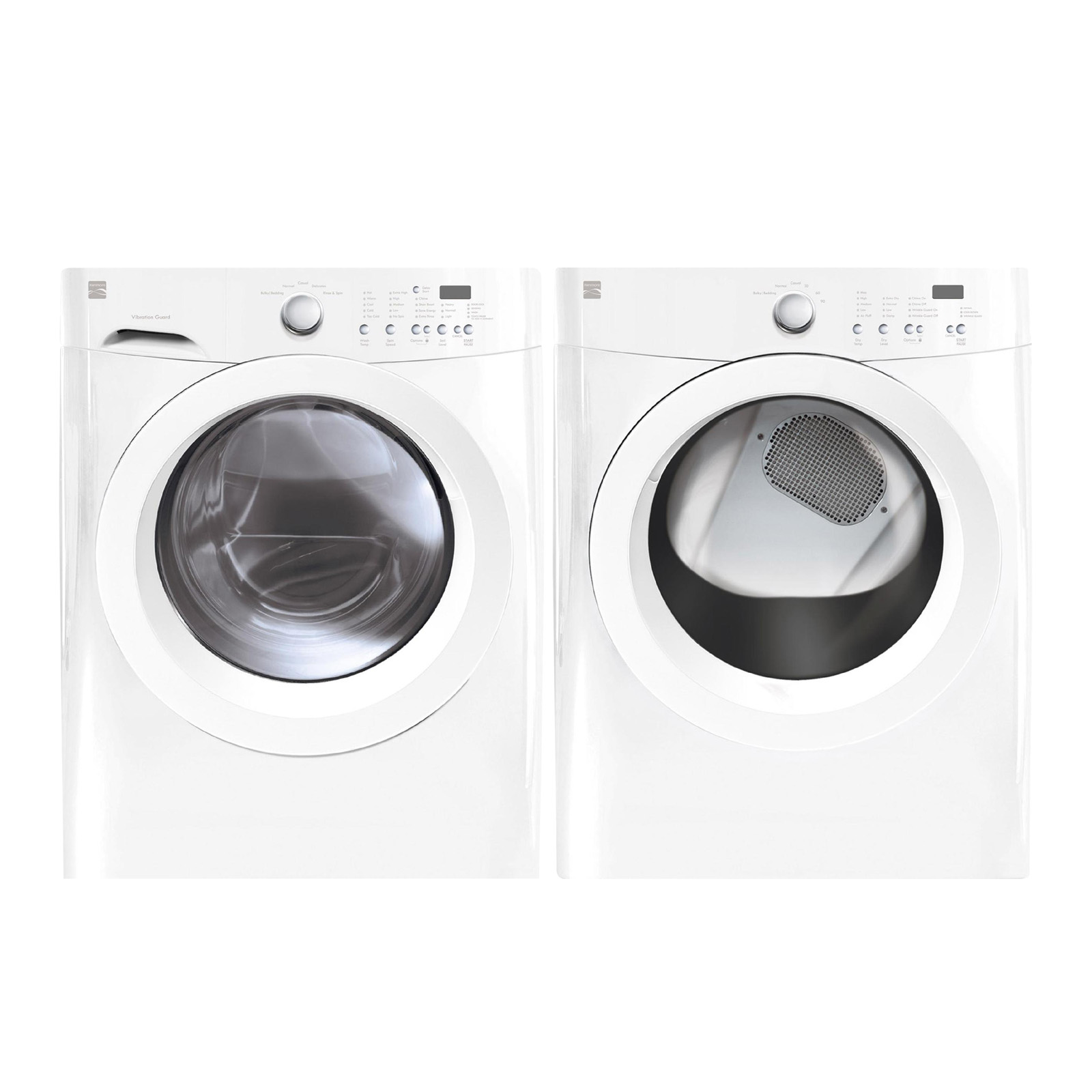 Kenmore 3.7 cu. ft. Front-Load Washer and 7.0 cu. ft. Dryer - White Bundle