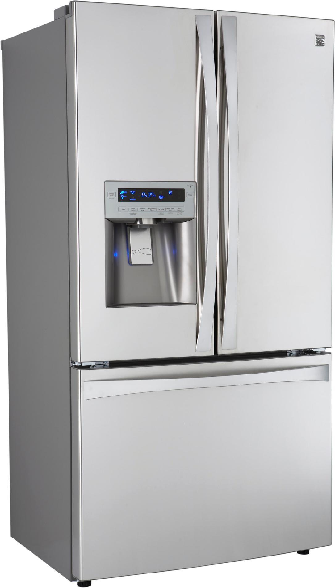 Kenmore Elite 25 cu. ft. Counter-Depth French Door  Bottom-Freezer Refrigerator -Stainless Steel