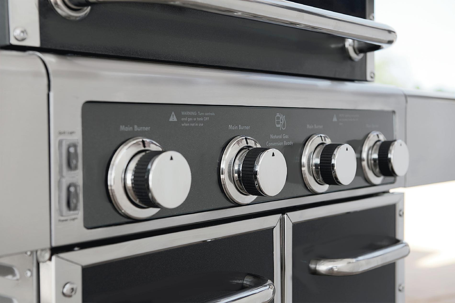 Kenmore Elite 600 Series 4 Burner Dual Fuel Carbon Grey Metallic Gas Grill