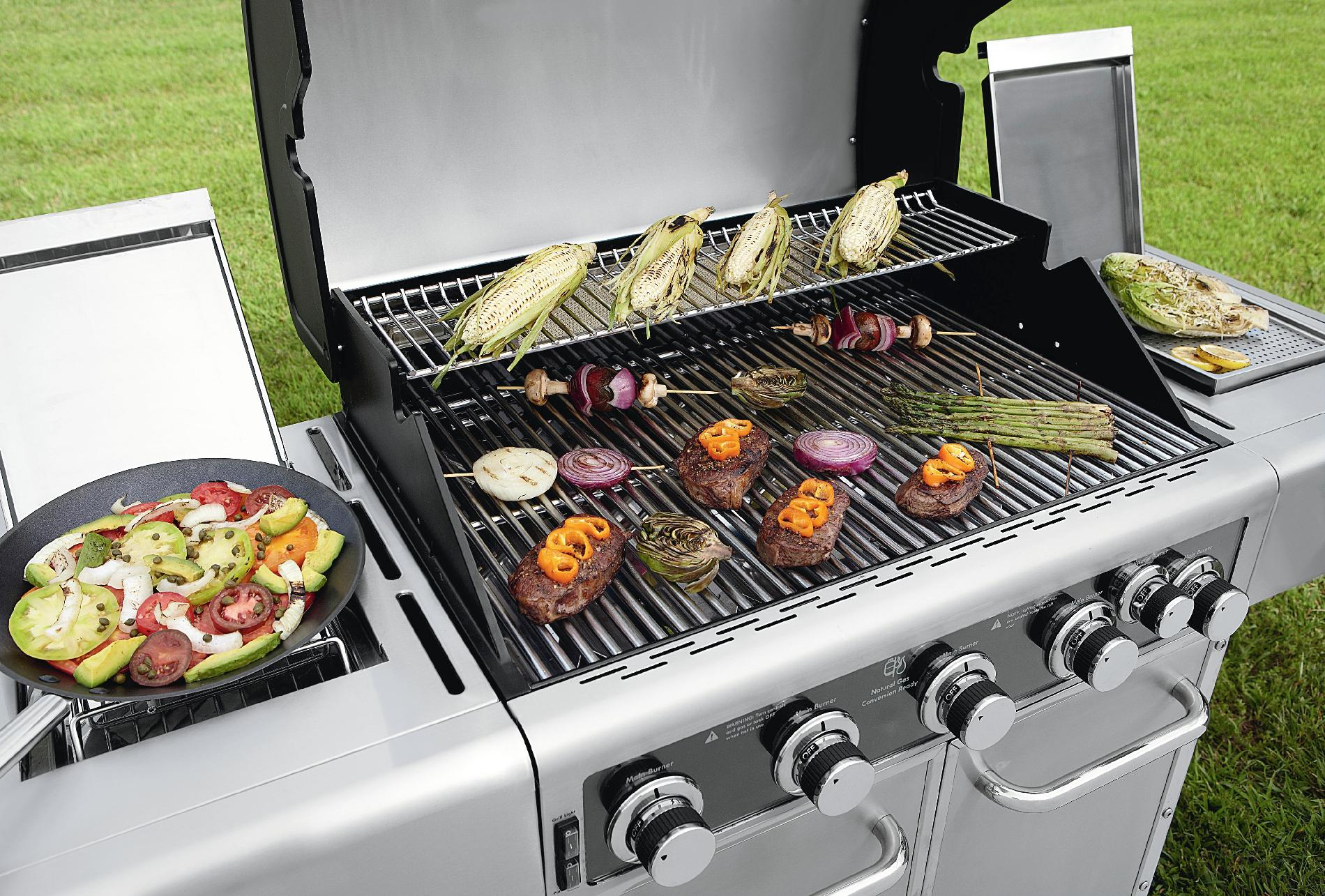 Kenmore Elite 700 Series 5 Burner Dual Fuel Stainless Steel Gas Grill