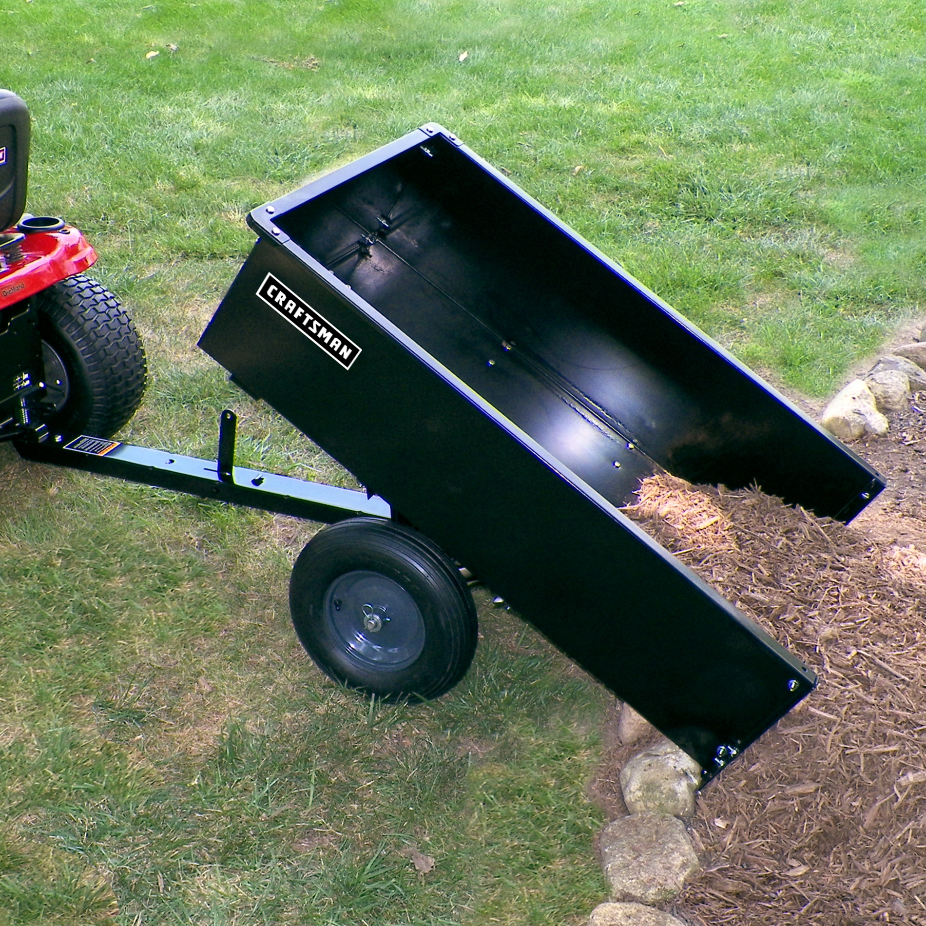 Craftsman 12 Cu Ft Steel Dump Cart