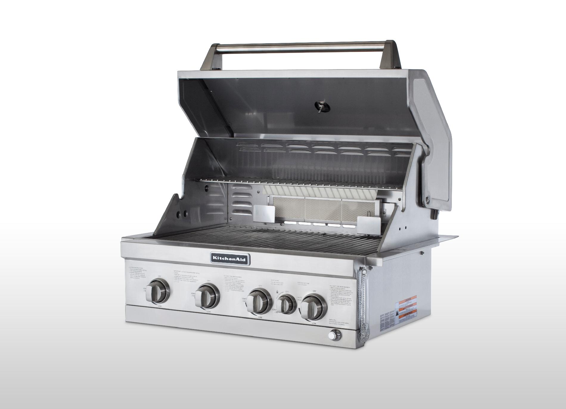 "KitchenAid 30"" 4-Burner Built In Gas Grill 4 with Rotisserie Burner"