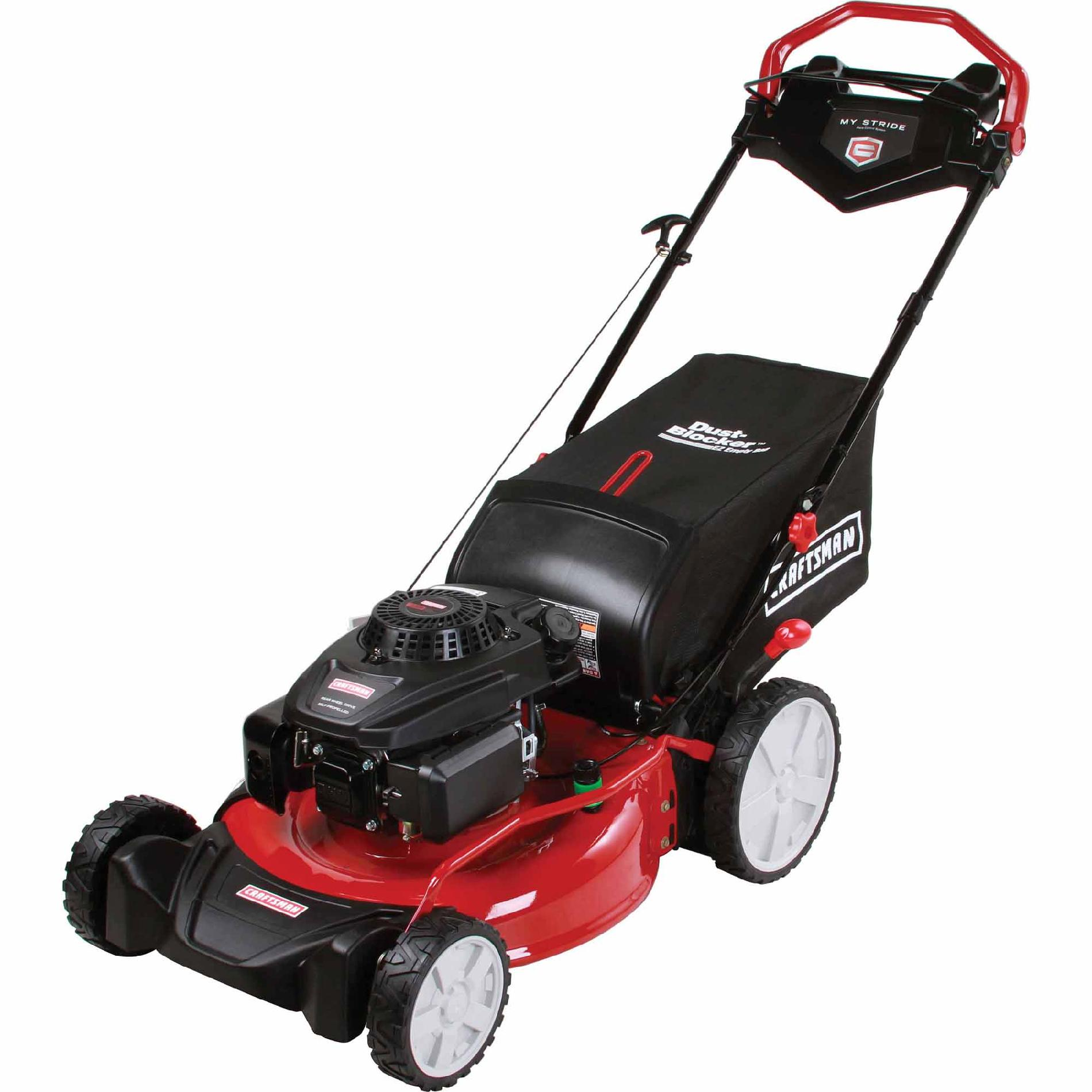 "Craftsman 21"" 159cc OHV Craftsman Engine, My Stride Rear Drive Self-Propelled Lawn Mower"