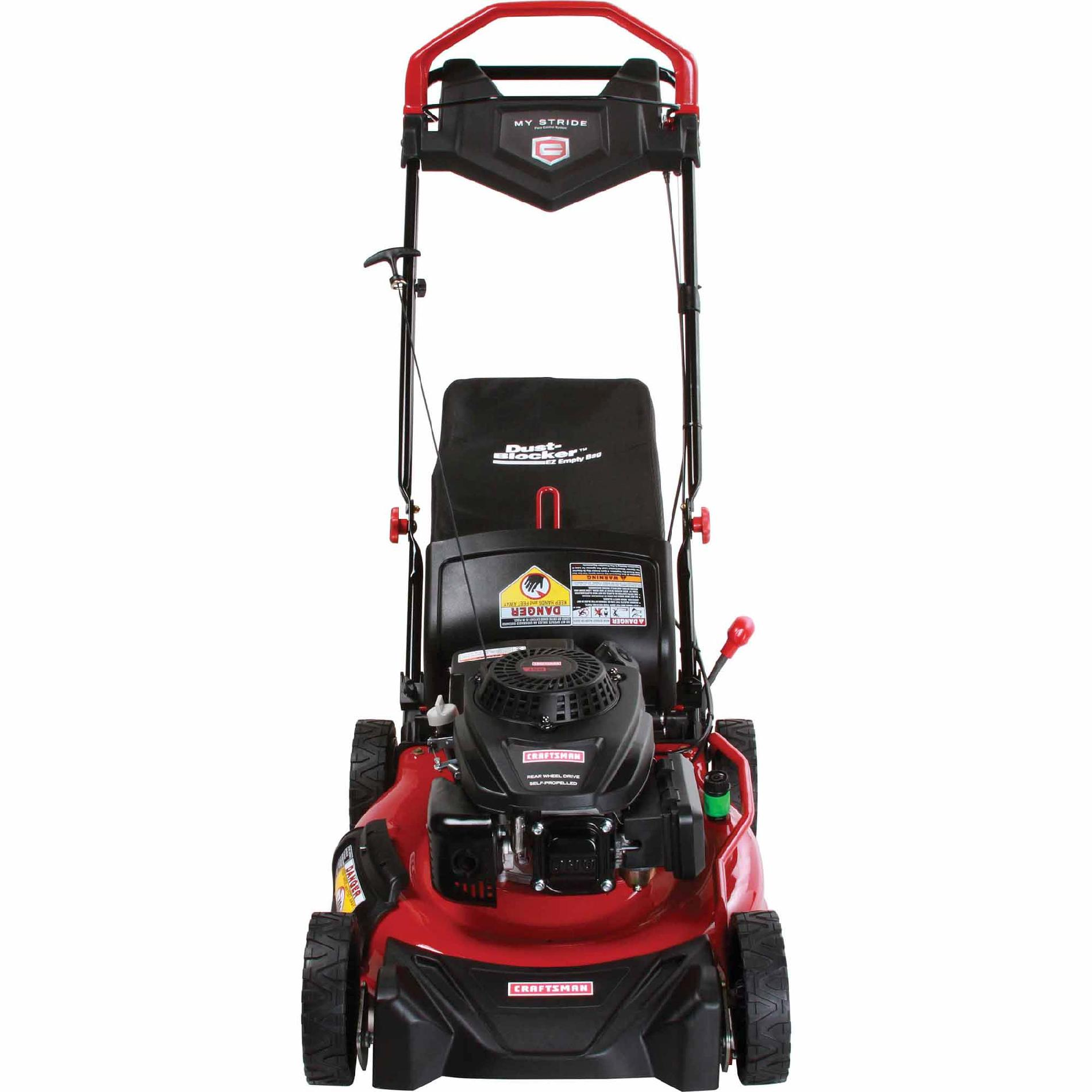 "Craftsman 21"" 159cc OHV Craftsman Engine  My Stride Rear Drive Self-Propelled Lawn Mower"
