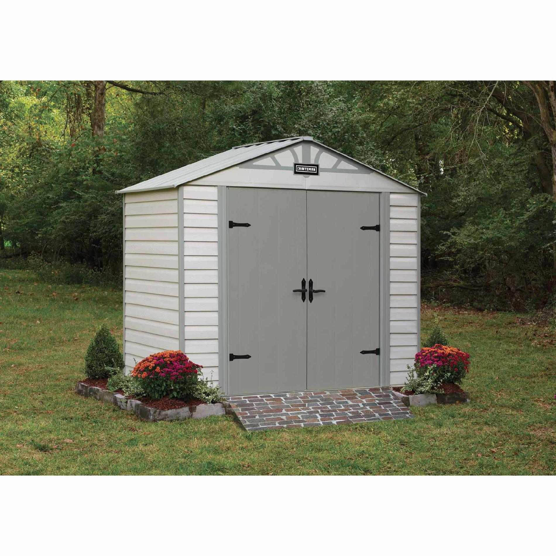 Craftsman 8-ft. x 5-ft. Vinyl-Coated Steel Shed - CVCS85
