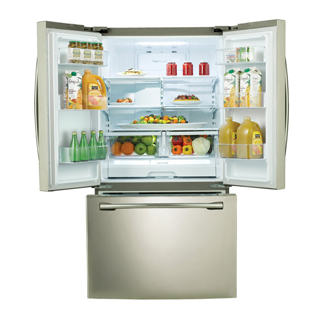 Samsung 25.5 cu.ft. French Door Refrigerator w/ Internal Filtered Water Dispenser - Stainless Look