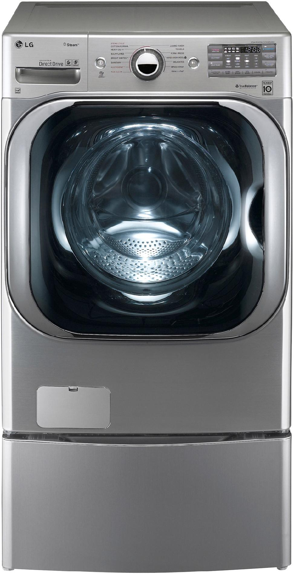 LG 5.2 cu. ft. Mega-Capacity Steam Front-Load Washer  - Graphite Steel