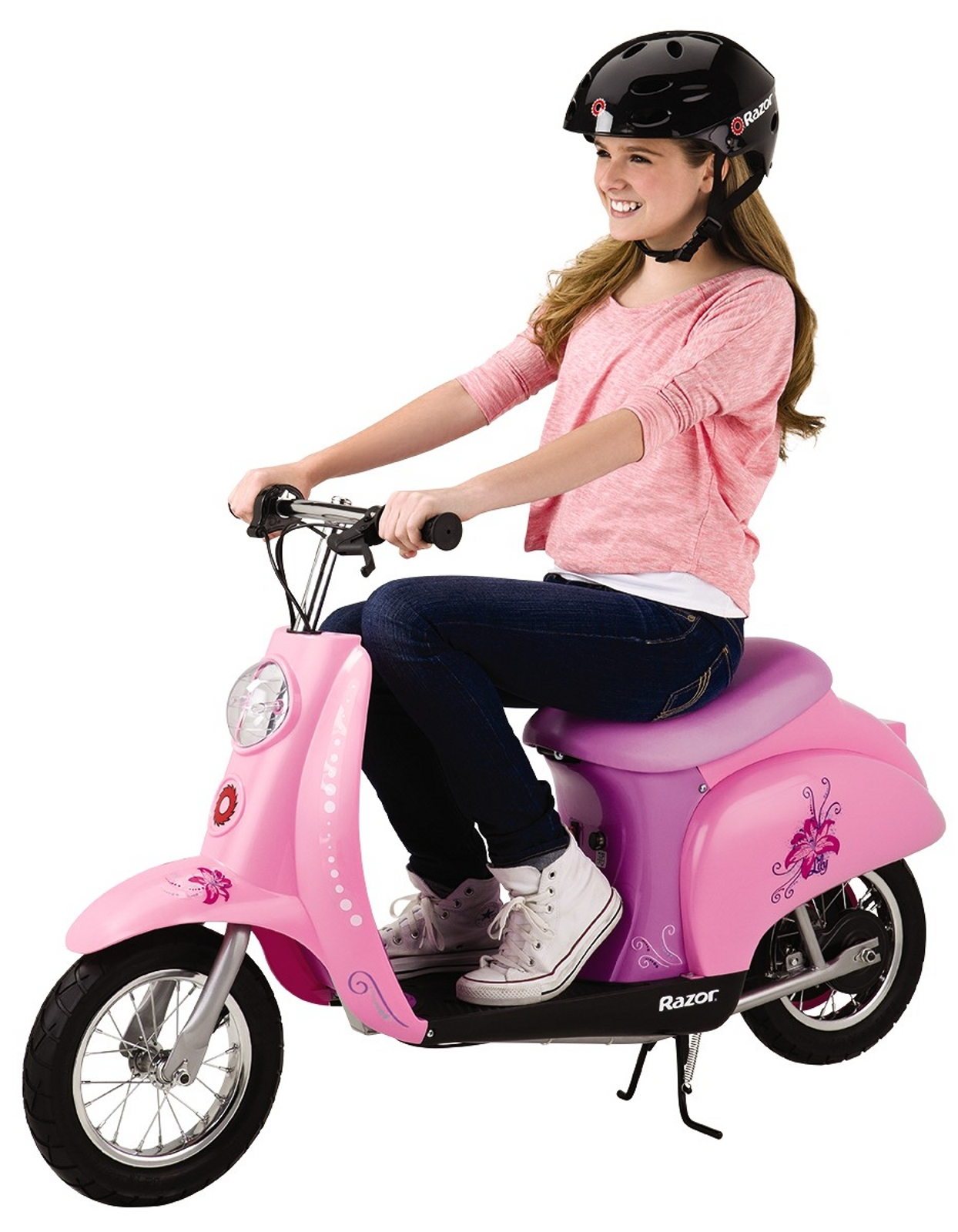 Razor™ 15130665 24V Pocket Mod Lily Euro Electric Scooter in Pink