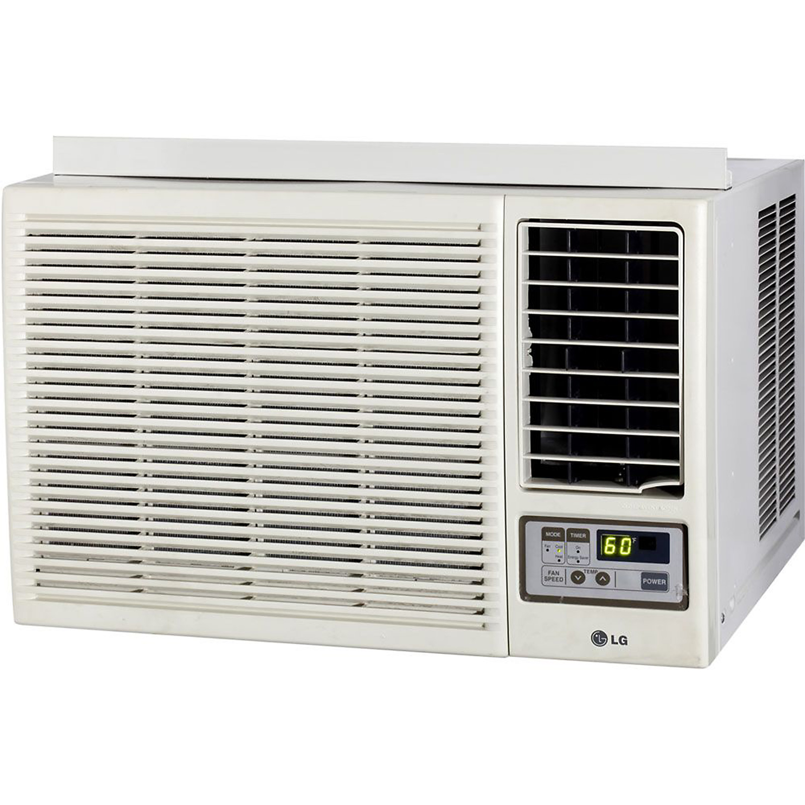 LG Electronics 7,000 BTU Window-Mounted Air Conditioner with Supplemental Heat and Remote Control (115 volts)