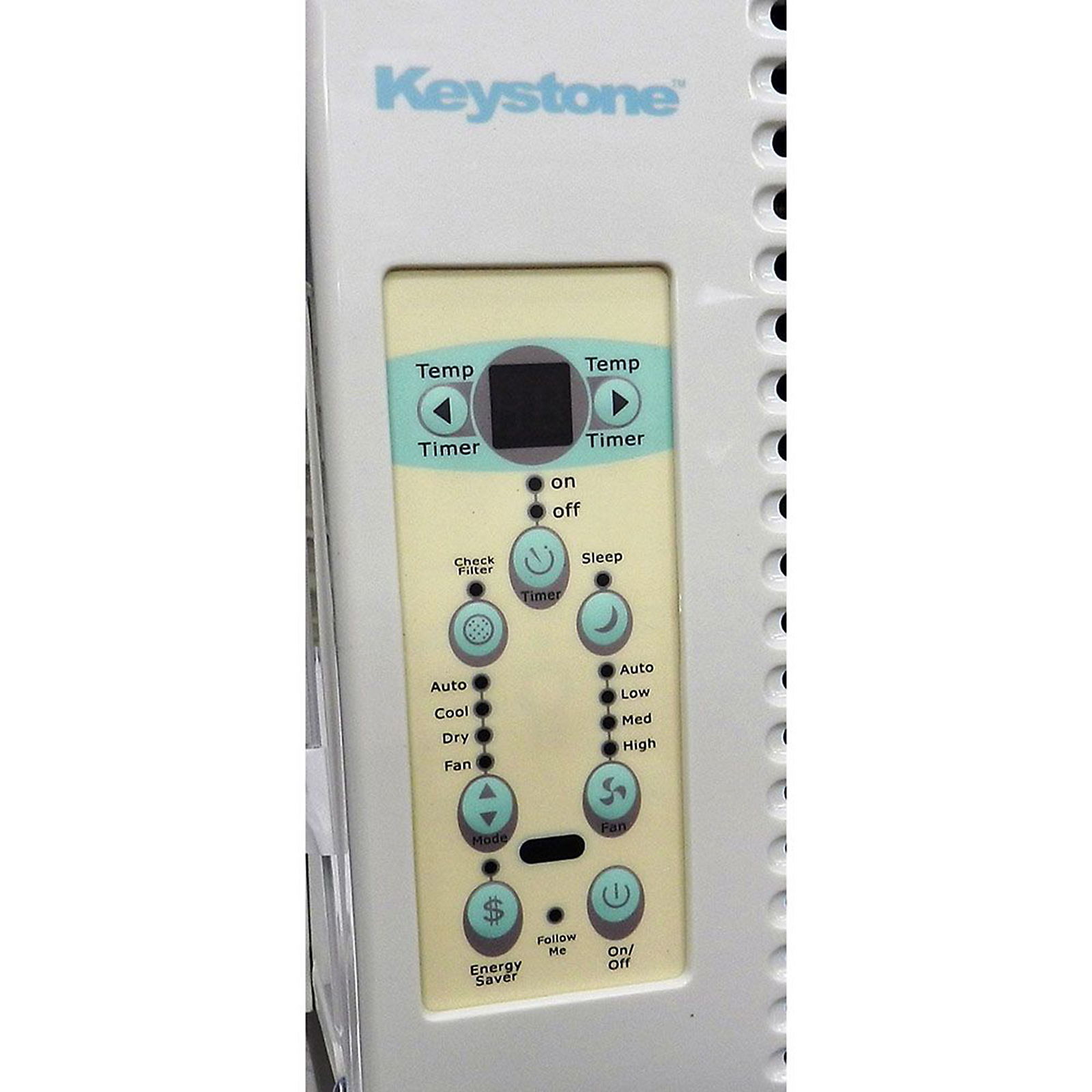 "Keystone 6,000 BTU 115-Volt Window-Mounted Air Conditioner with ""Follow Me"" LCD Remote Control"