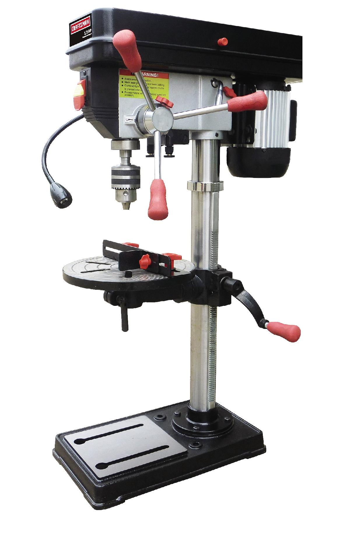 """Craftsman 12"""" Drill Press with Laser and LED Light"""