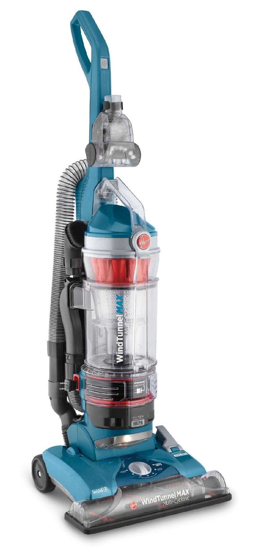 Hoover Wind Tunnel Max Vacuum, Bagless Upright, Multi-Cyclonic, 1 vacuum