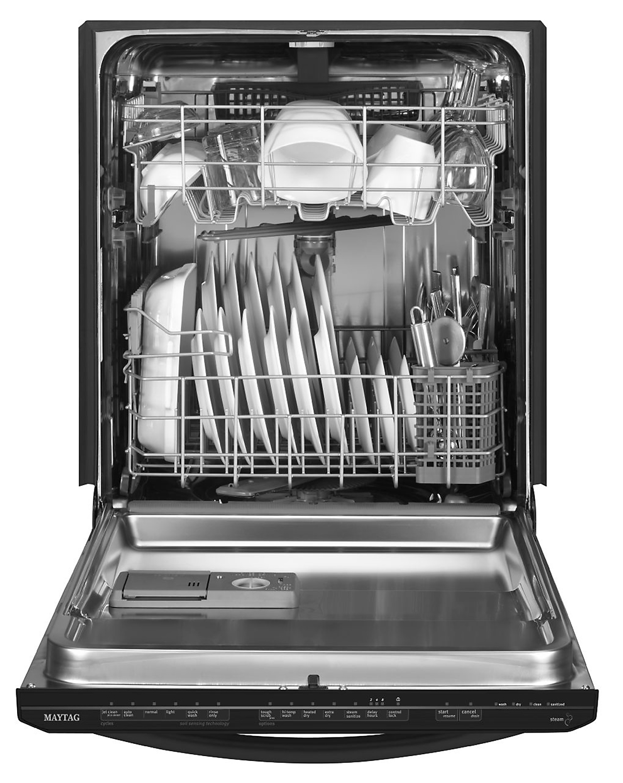 "Maytag 24"" Jetclean® Plus Built-In Dishwasher w/ Premium Rack Glides - Stainless Steel"