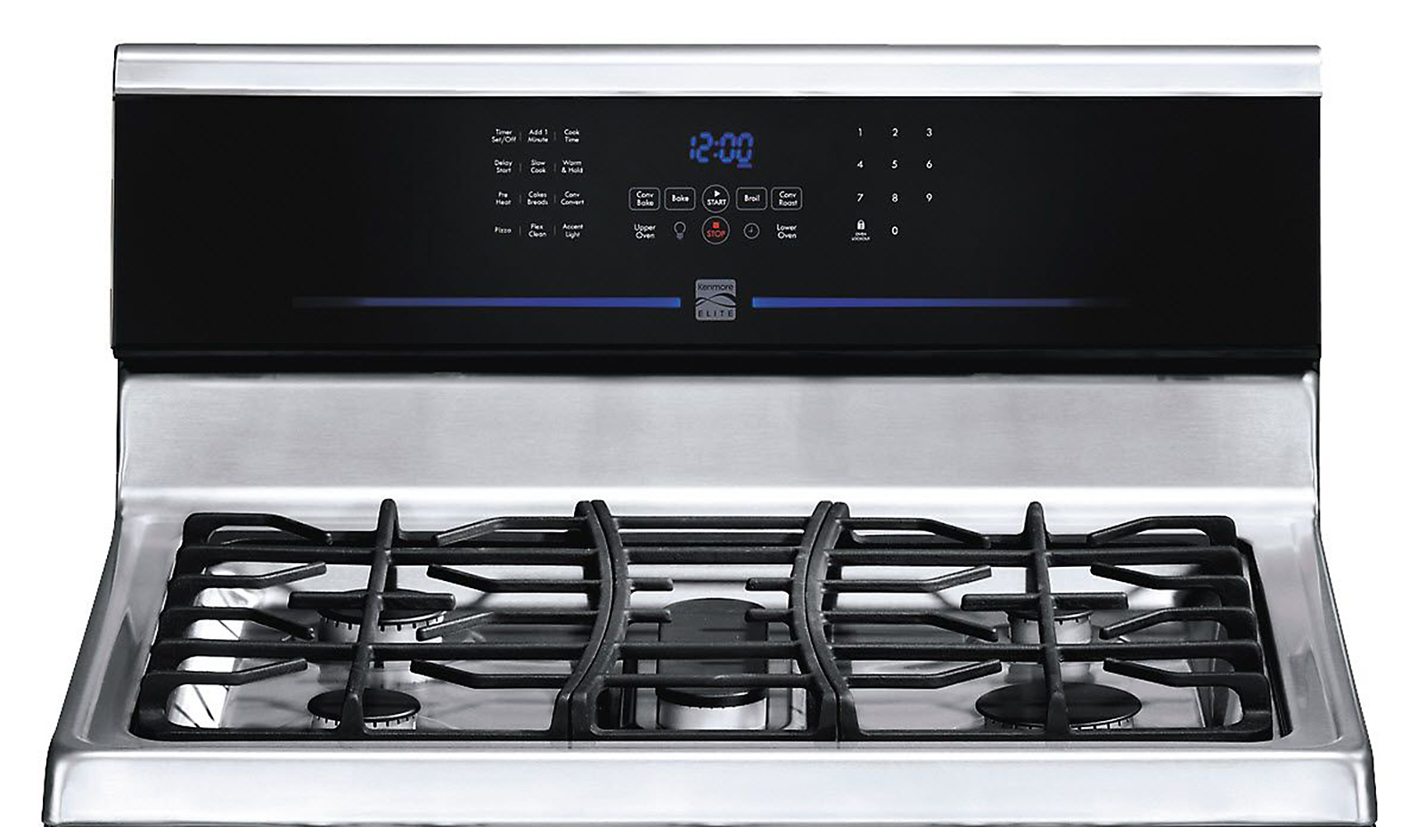Kenmore Elite 78923 5.8 cu. ft. Double-Oven Gas Range - Stainless Steel