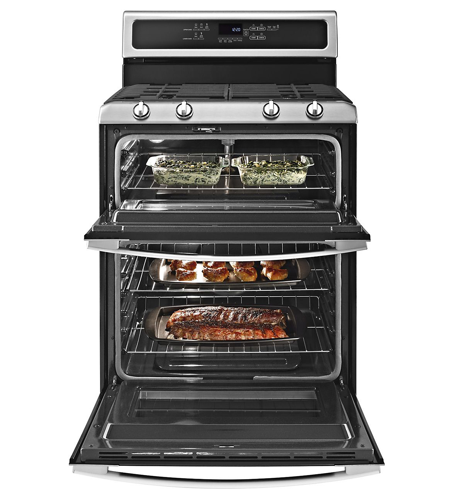 Whirlpool Gold 6 cu. ft. Double-Oven Gas Range - Stainless Steel
