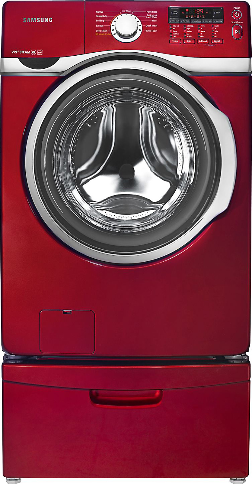 Samsung 3.9 cu. ft. Front-Load Washer - Red