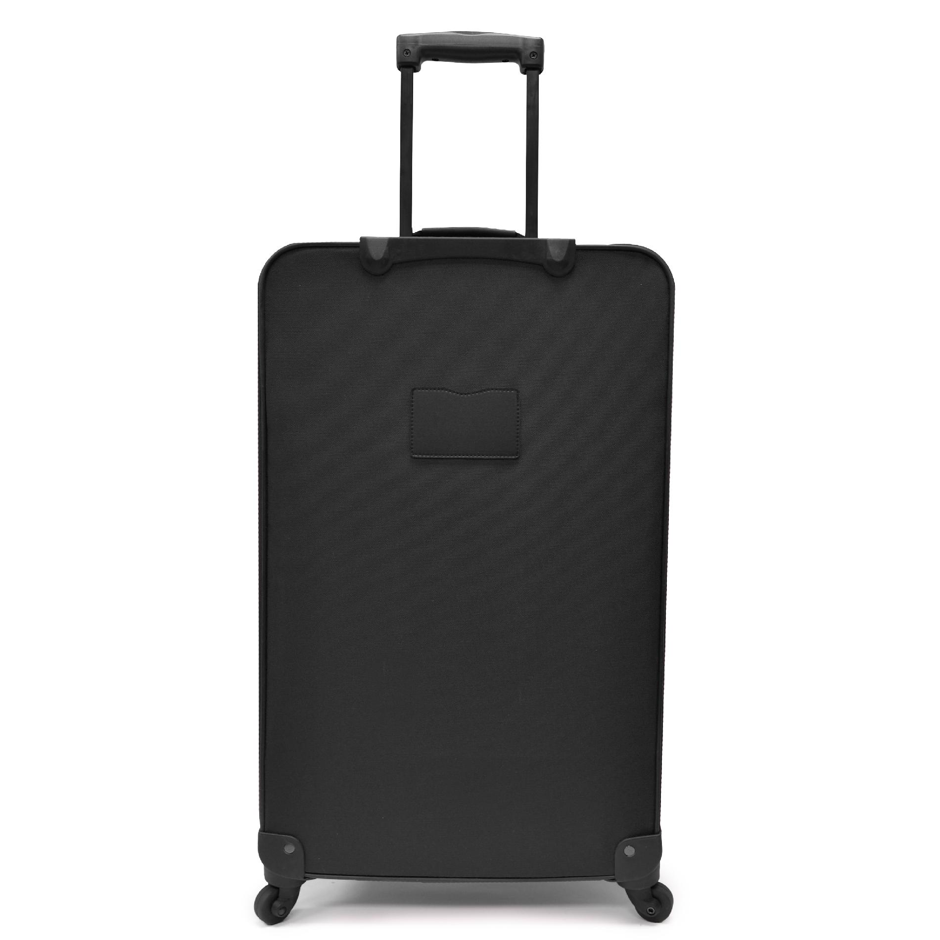 U.S. Traveler Charleville 4-Piece Spinner Luggage Set, Black